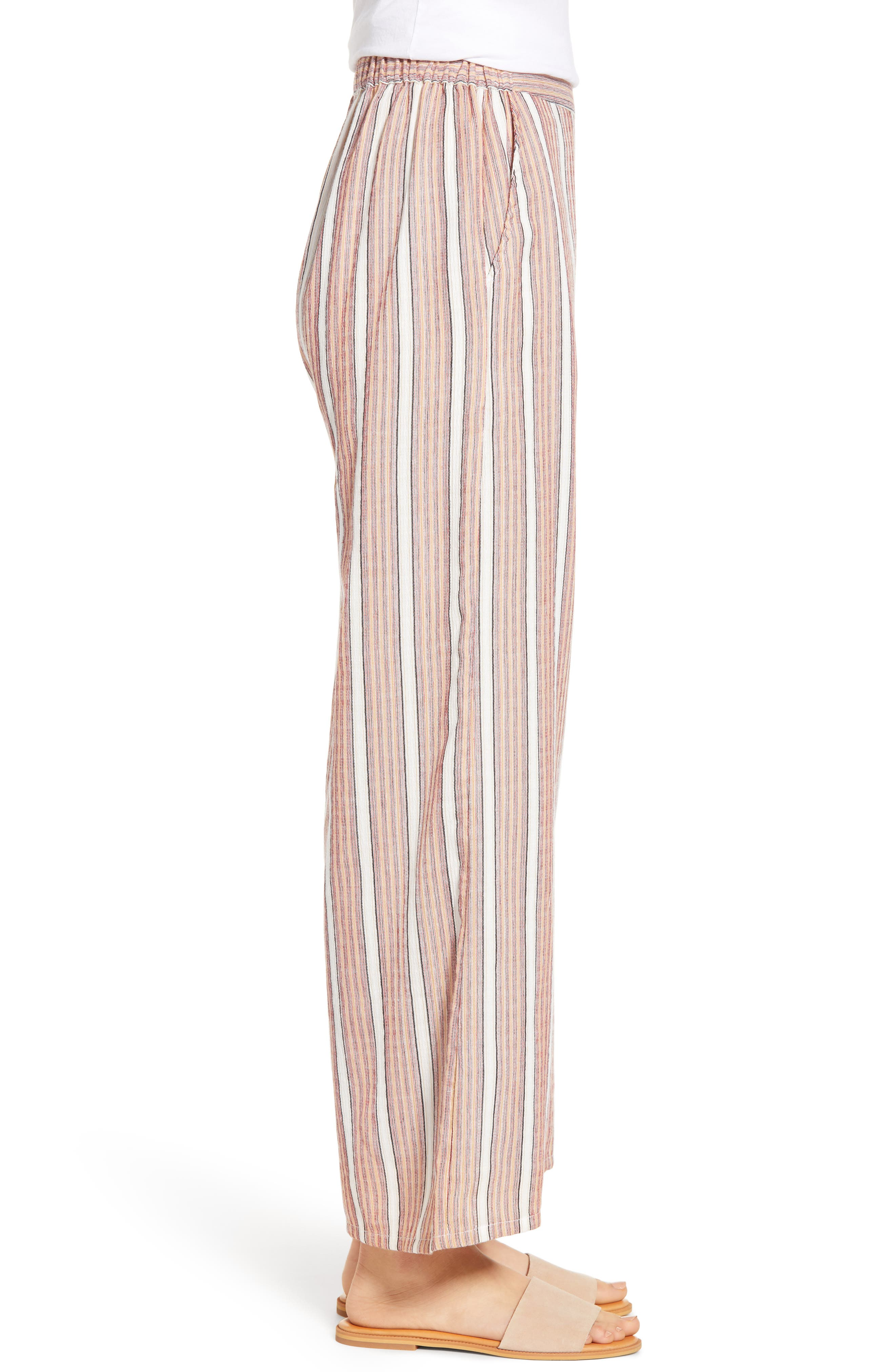 Midnight Avenue Stripe Pants,                             Alternate thumbnail 3, color,                             AMERICAN BEAUTY MULTI STRIPES