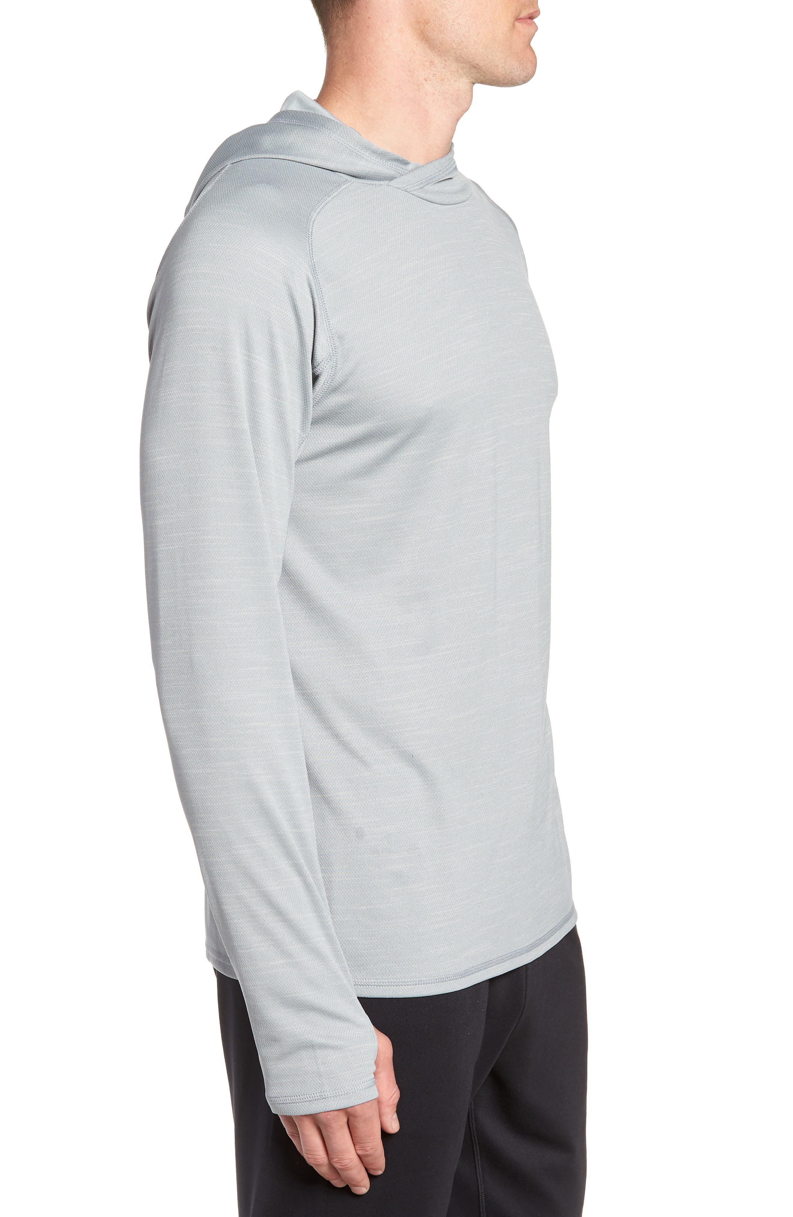Hooded Pullover,                             Alternate thumbnail 3, color,                             GREY ZIRCON SPACEDYE
