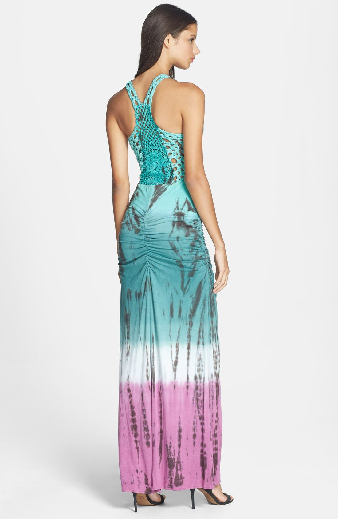 'Larke' Tie Dye Jersey Tank Maxi Dress,                             Alternate thumbnail 3, color,                             300