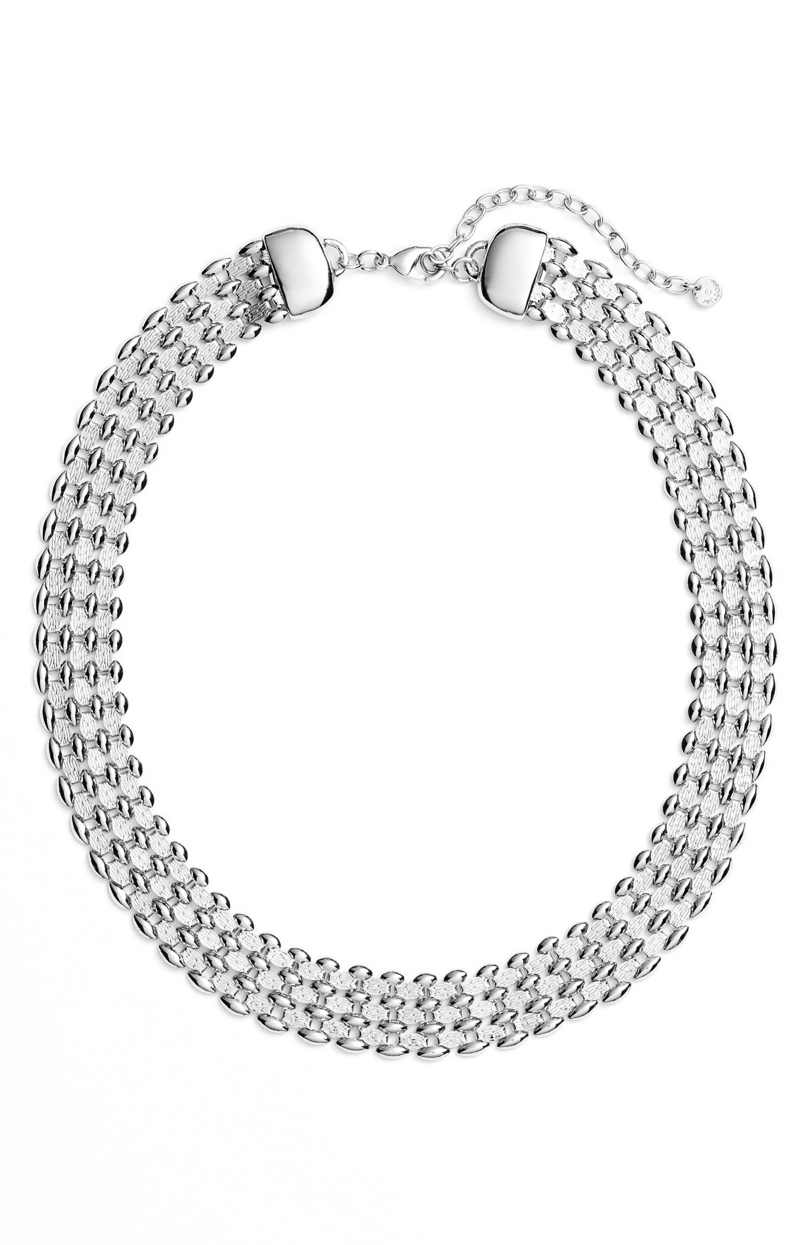 Glimmer Chain Collar,                         Main,                         color, 040