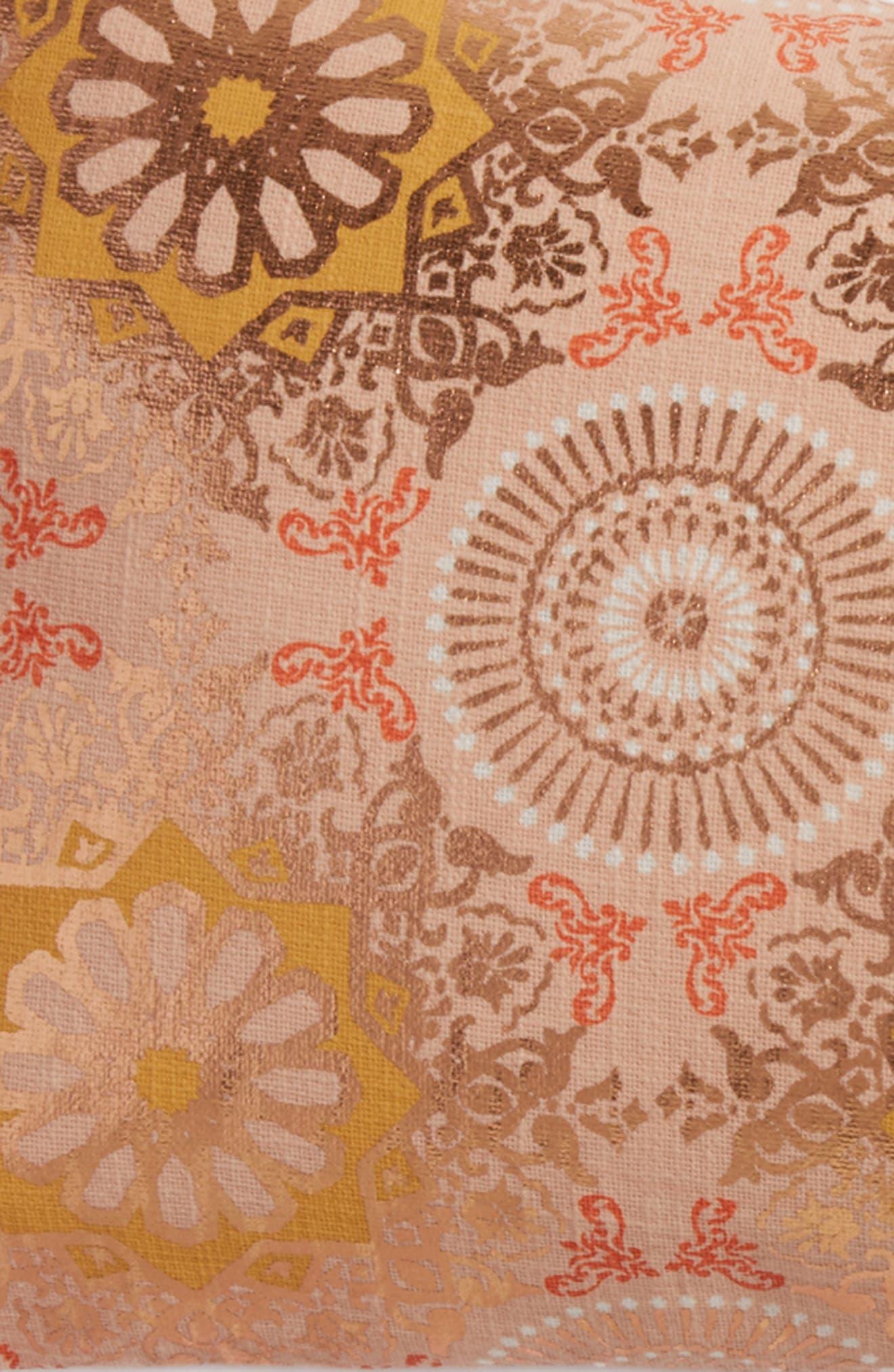 Moroccan Print Accent Pillow,                             Alternate thumbnail 3, color,                             650
