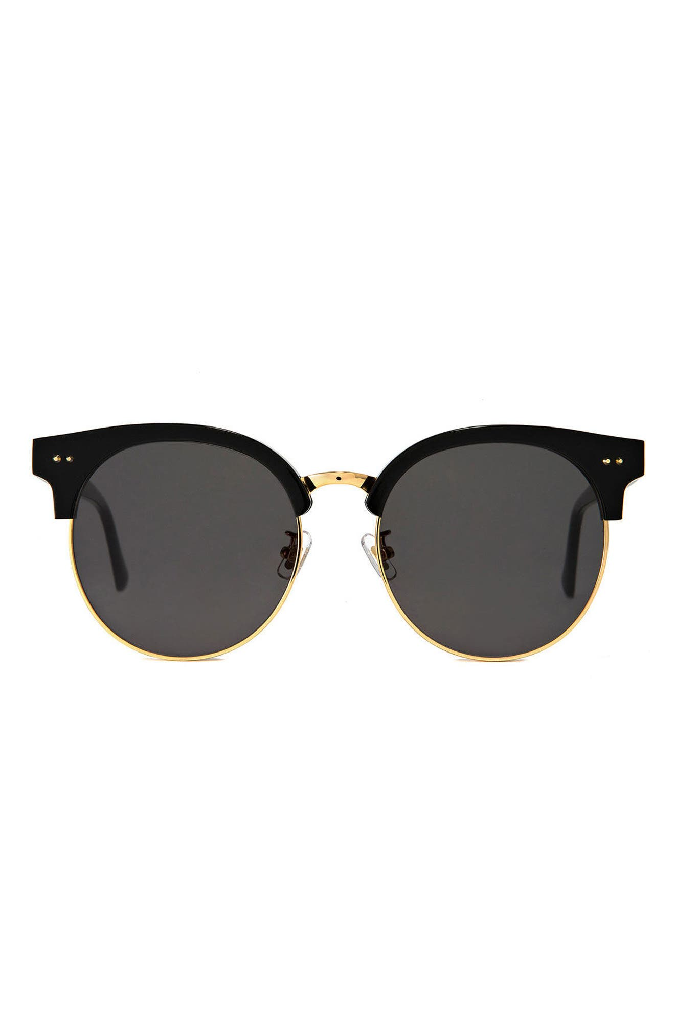 Moon Cut 55mm Sunglasses,                             Main thumbnail 1, color,                             001