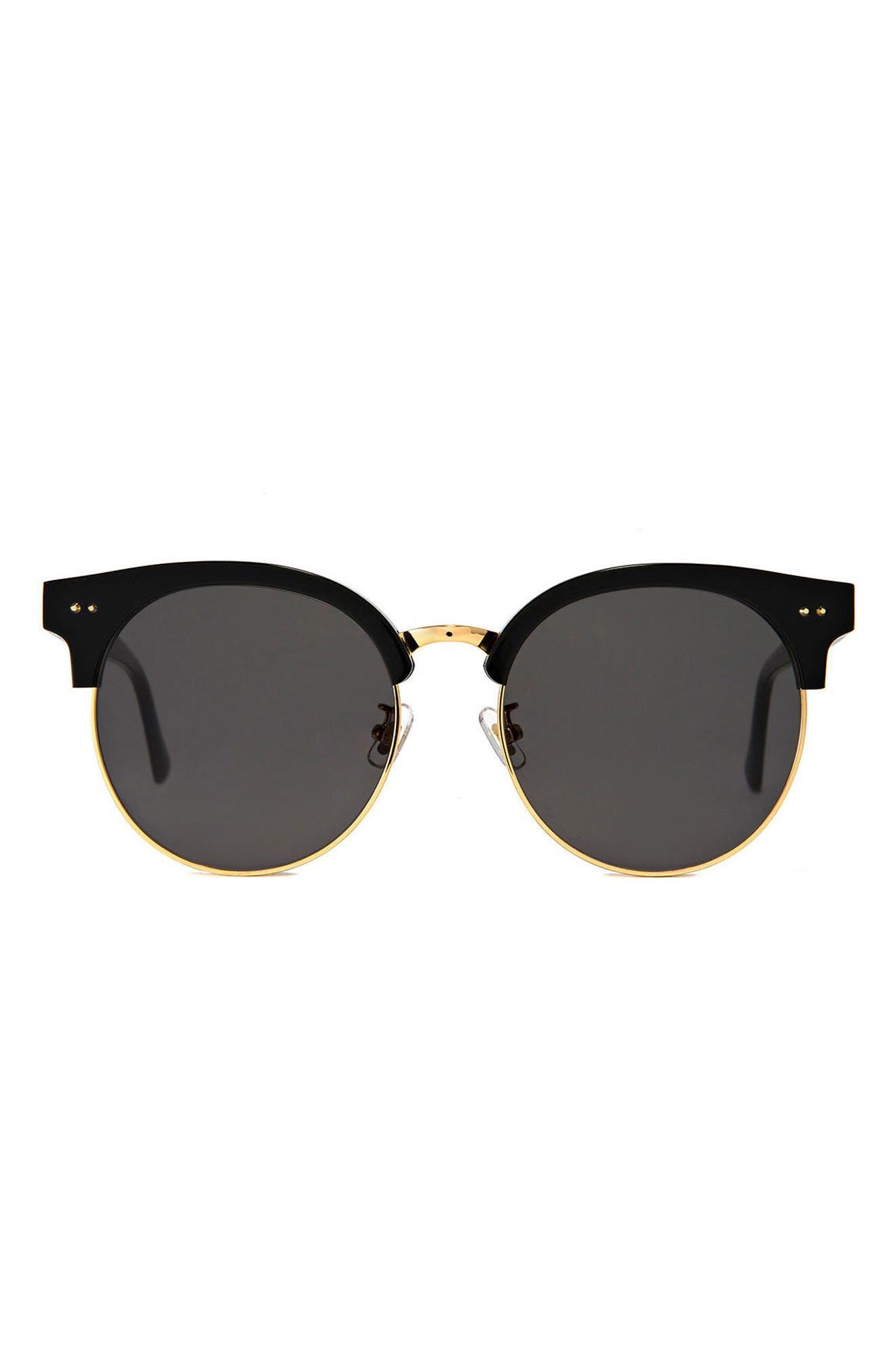Moon Cut 55mm Sunglasses,                         Main,                         color, 001