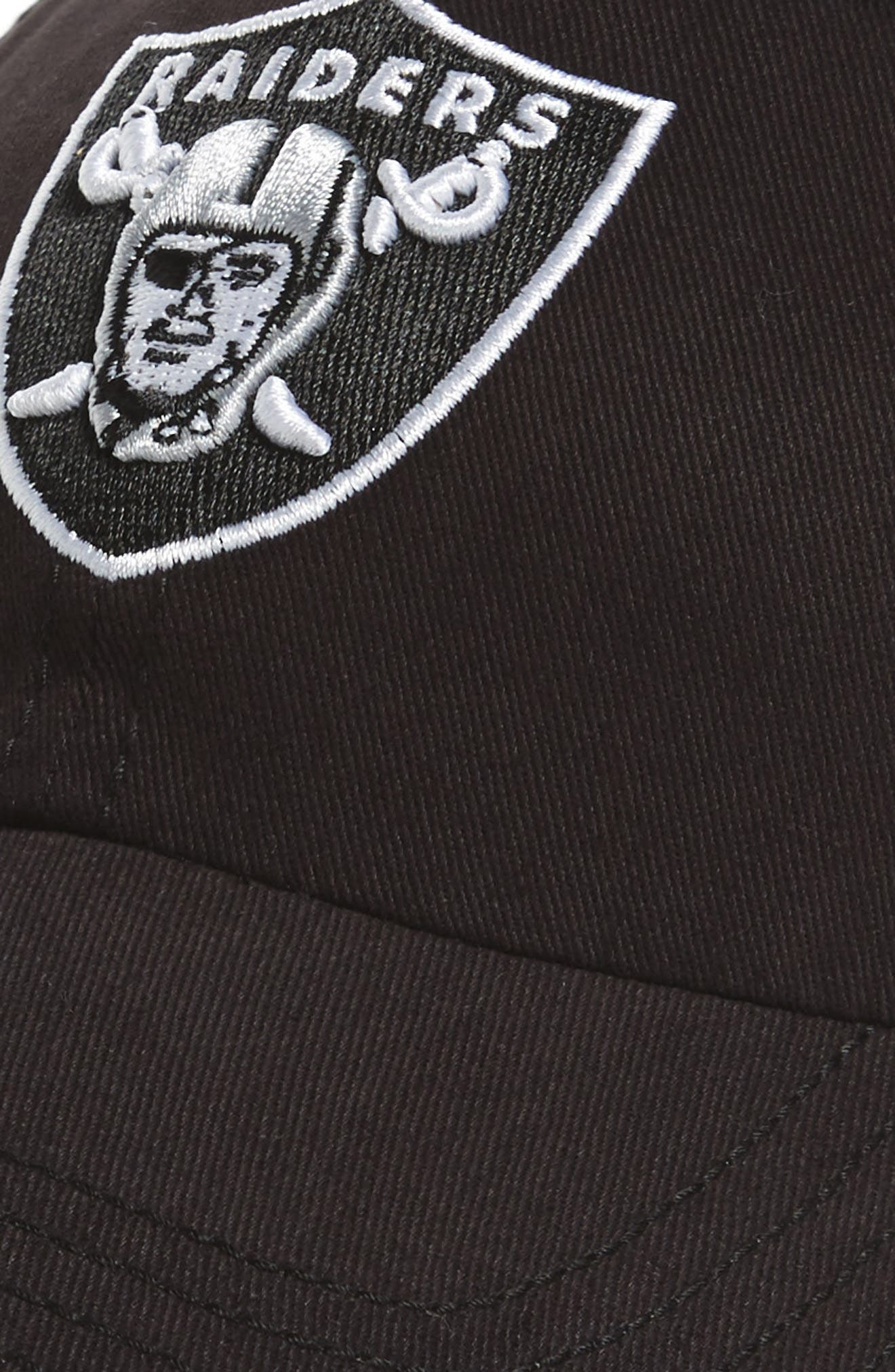 Miata Clean Up Oakland Raiders Ball Cap,                             Alternate thumbnail 3, color,                             001