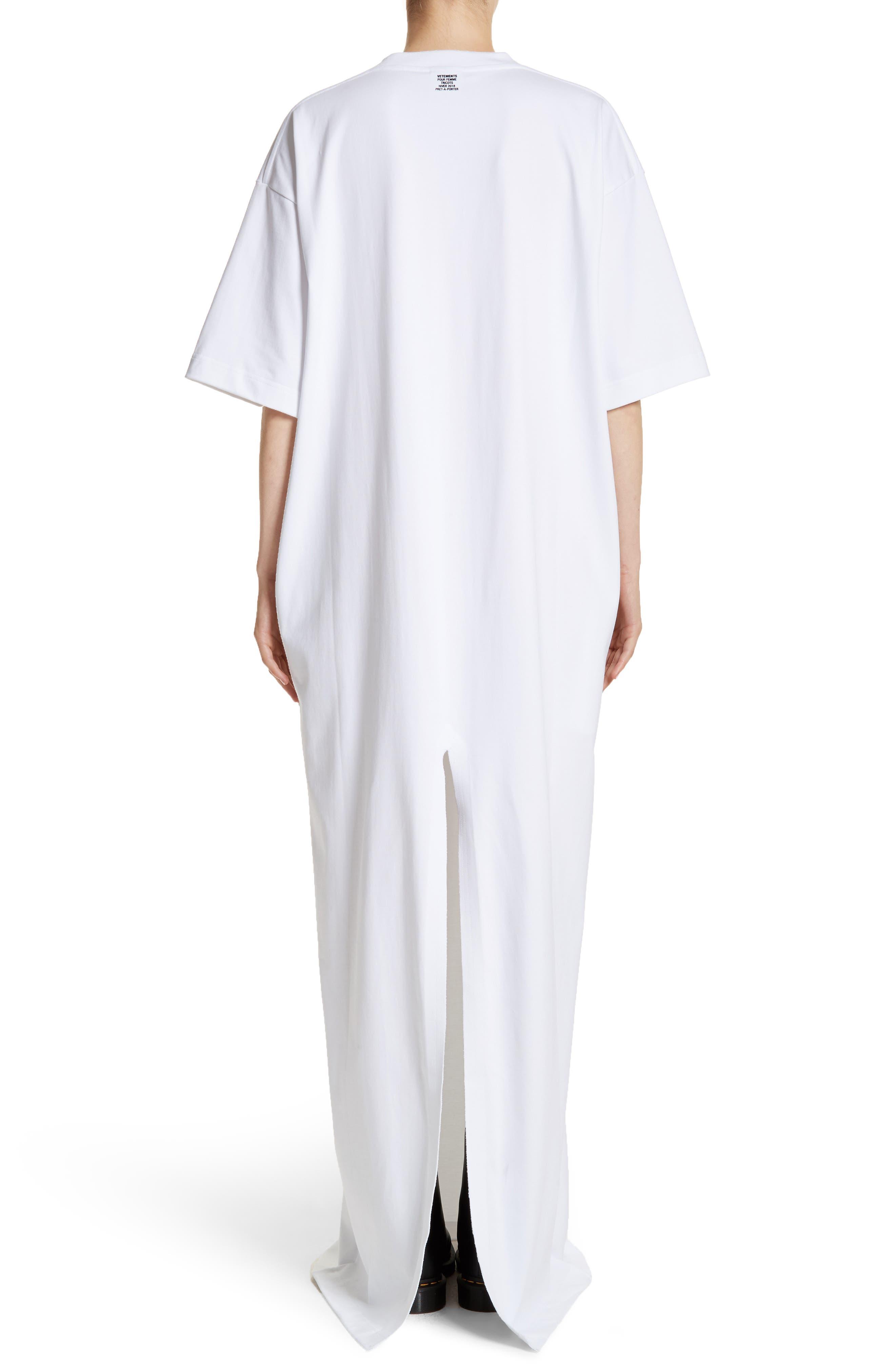 T-Shirt Dress,                             Alternate thumbnail 2, color,                             100