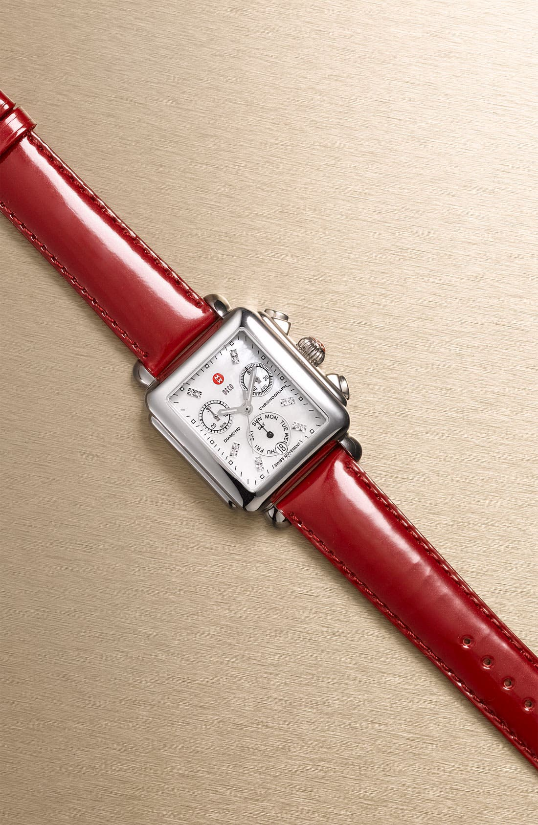 18mm Patent Leather Watch Strap,                             Alternate thumbnail 104, color,