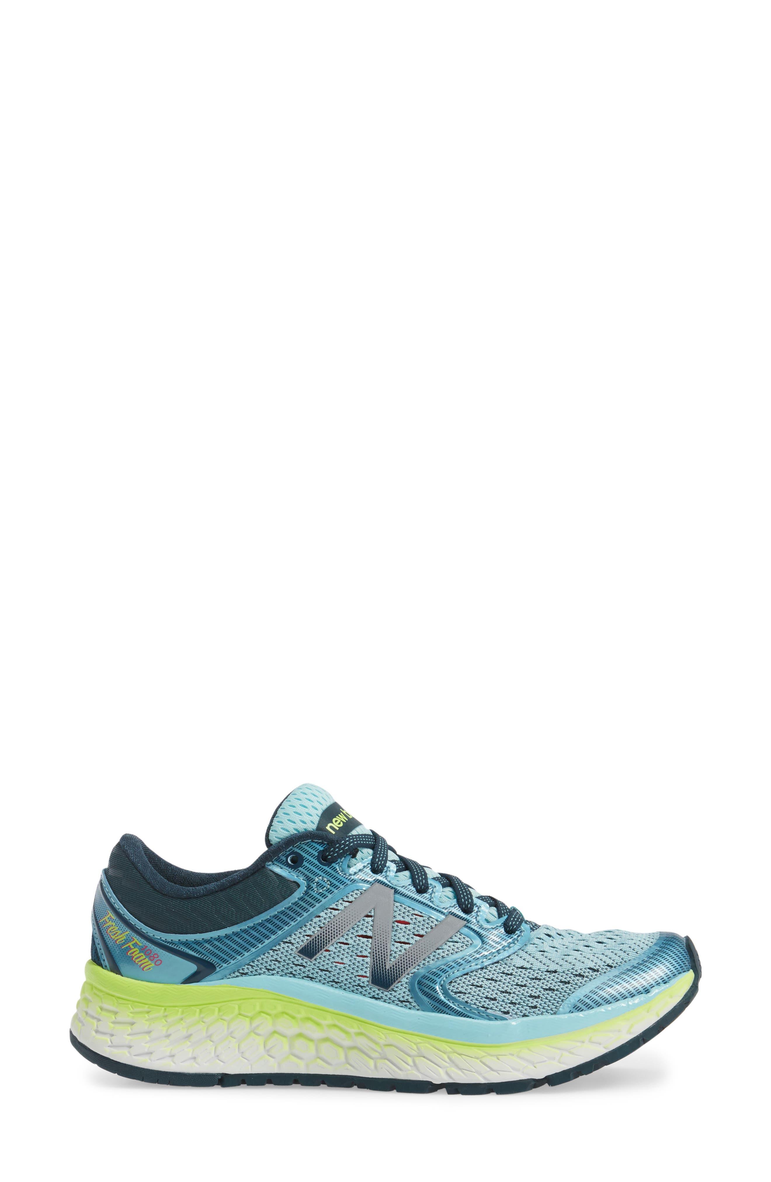'1080 - Fresh Foam' Running Shoe,                             Alternate thumbnail 3, color,                             OZONE BLUE GLOW