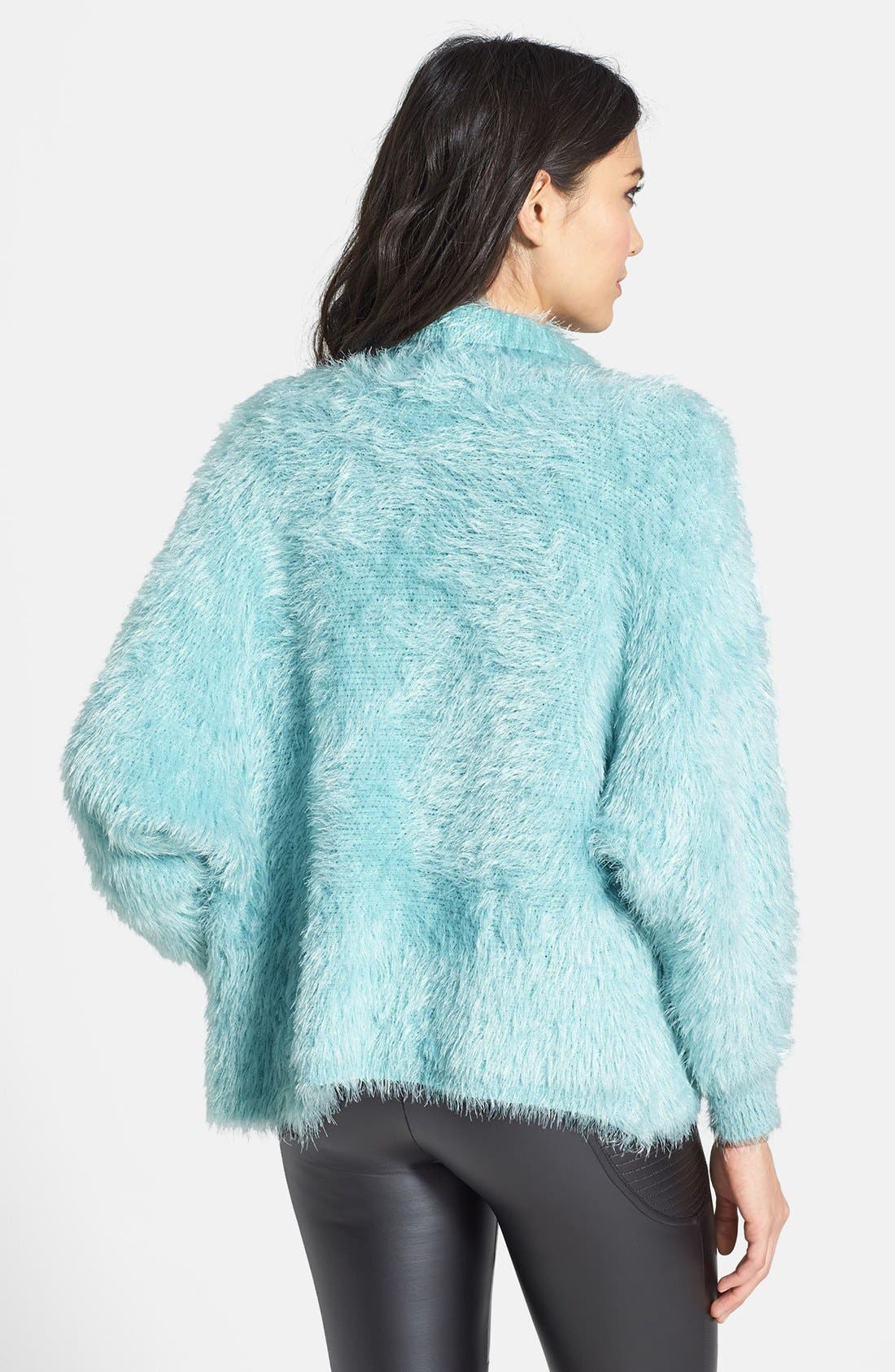 Dolman Sleeve Faux Fur Cardigan,                             Alternate thumbnail 2, color,                             400