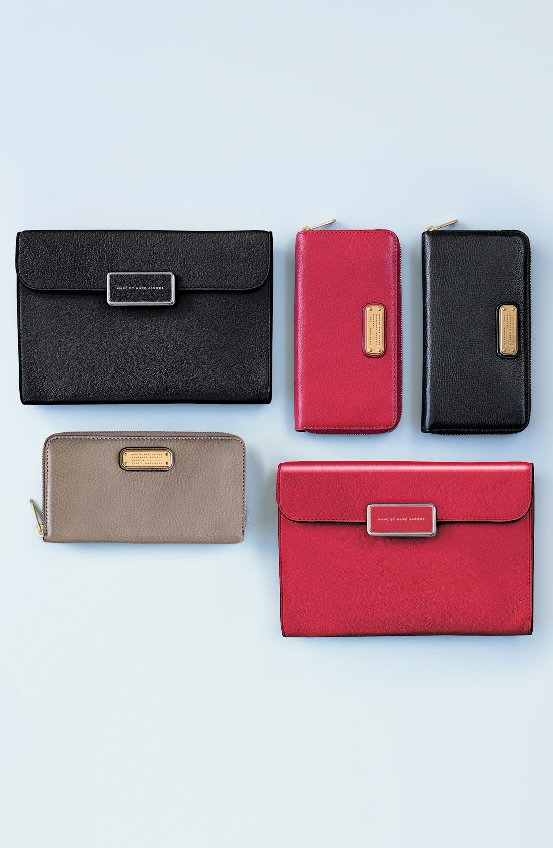MARC BY MARC JACOBS 'Pegg' Patent Leather Clutch,                             Alternate thumbnail 5, color,                             600