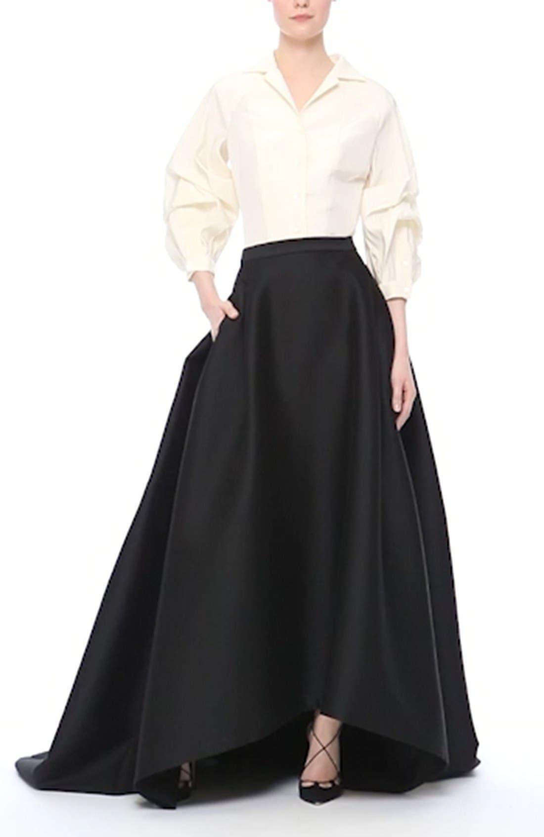 Full Length Evening Skirt,                             Alternate thumbnail 2, color,                             001