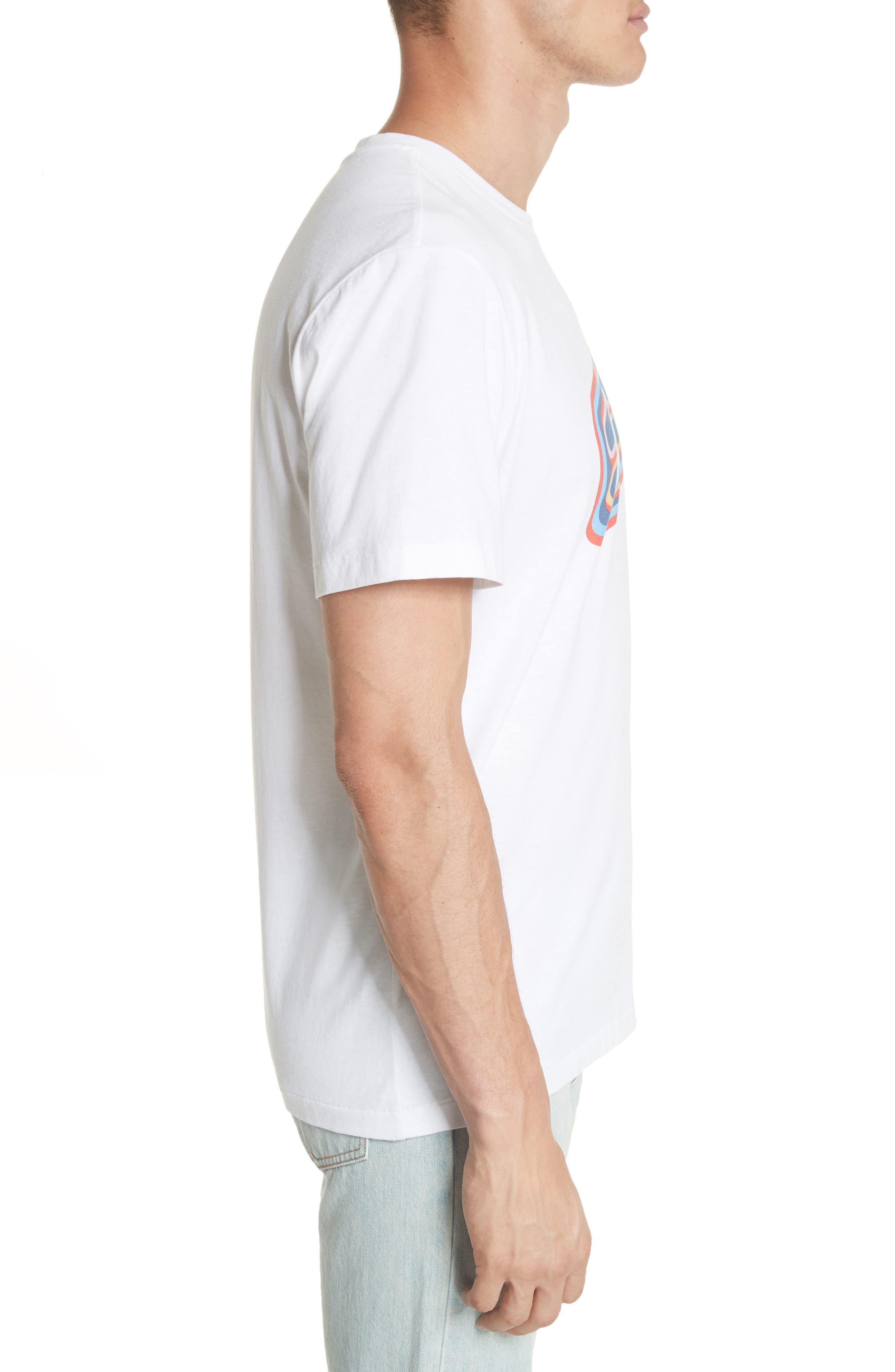 Bastien Logo Graphic T-Shirt,                             Alternate thumbnail 3, color,                             WHITE