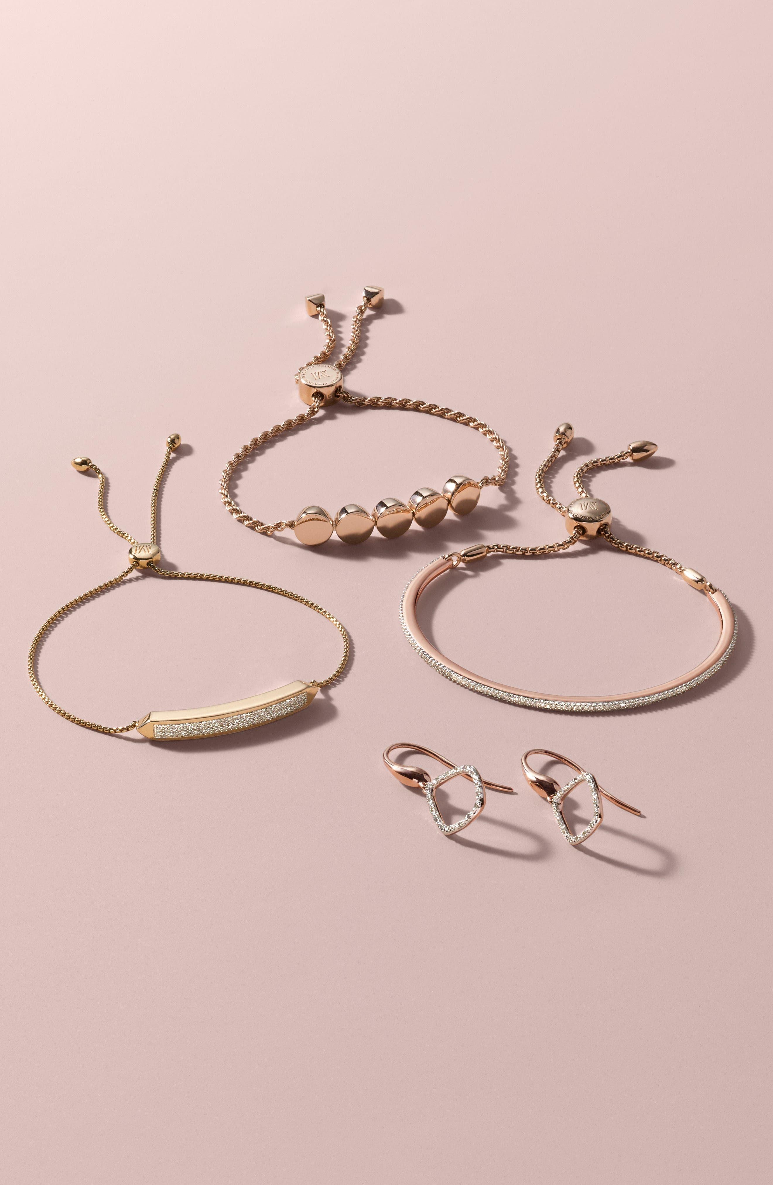 Engravable Linear Bead Friendship Bracelet,                             Alternate thumbnail 4, color,                             SILVER