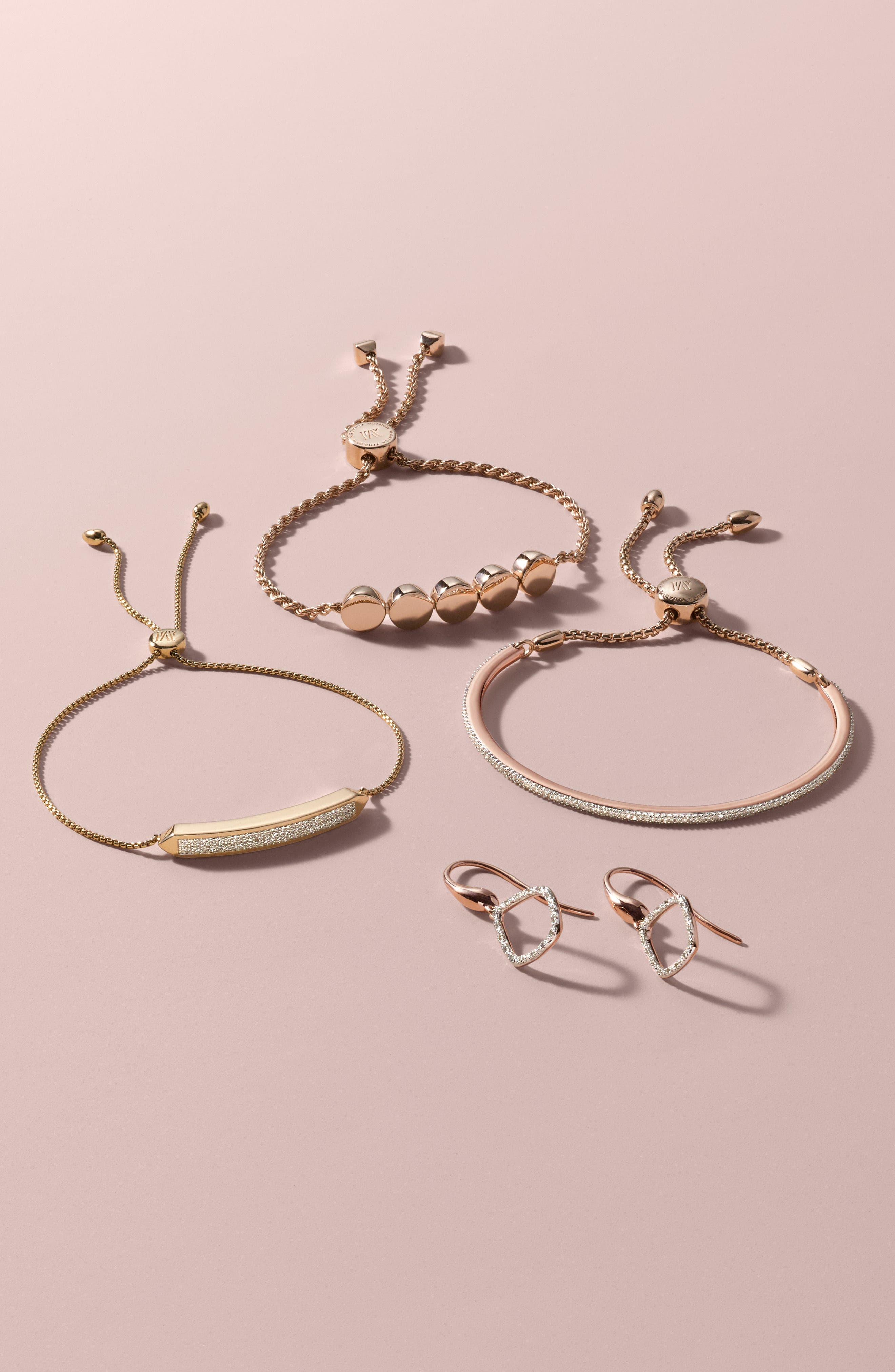 Baja Skinny Pavé Diamond Bracelet,                             Alternate thumbnail 4, color,                             SILVER