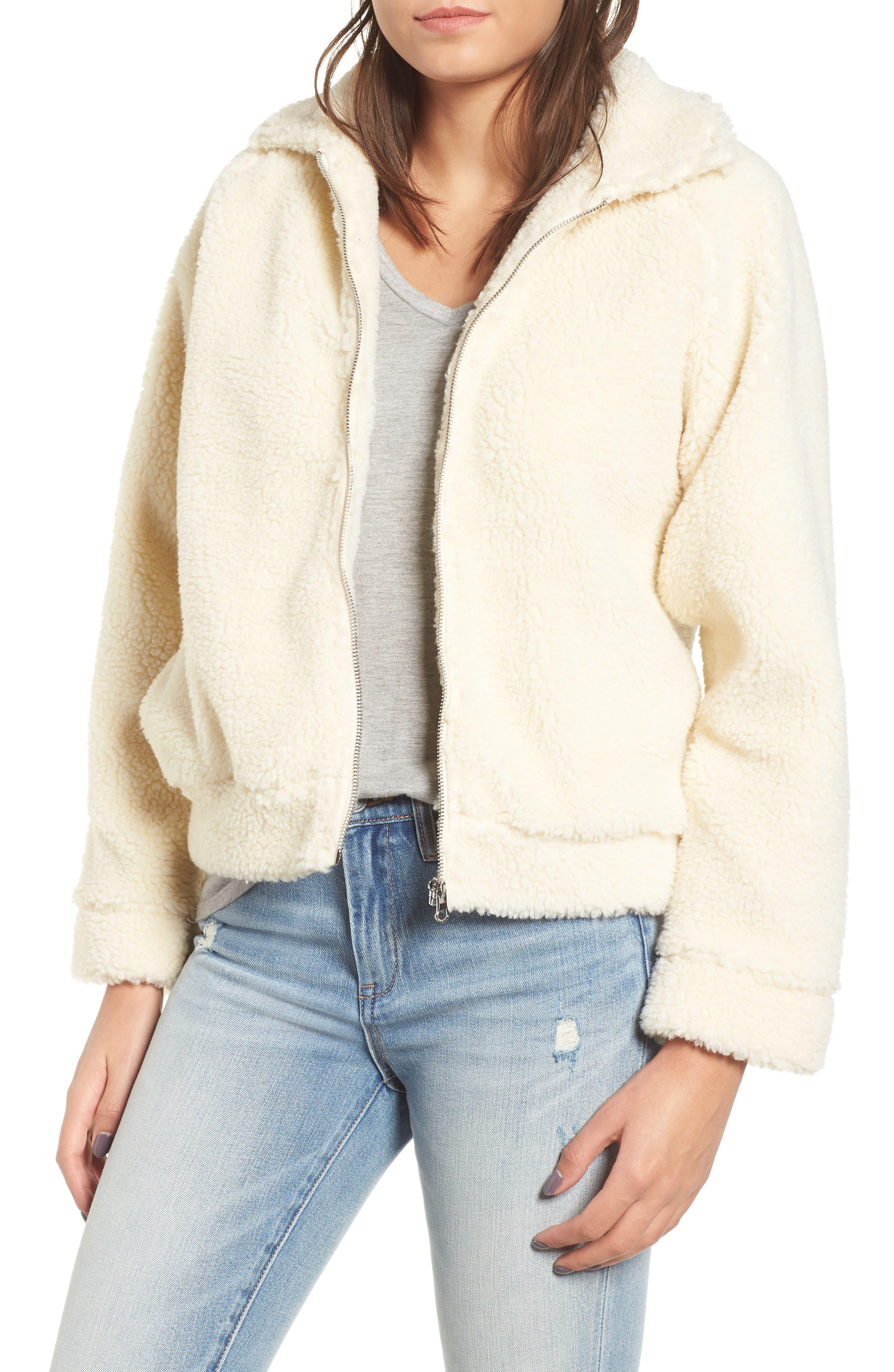 Rvca Ted Fleece Jacket, White