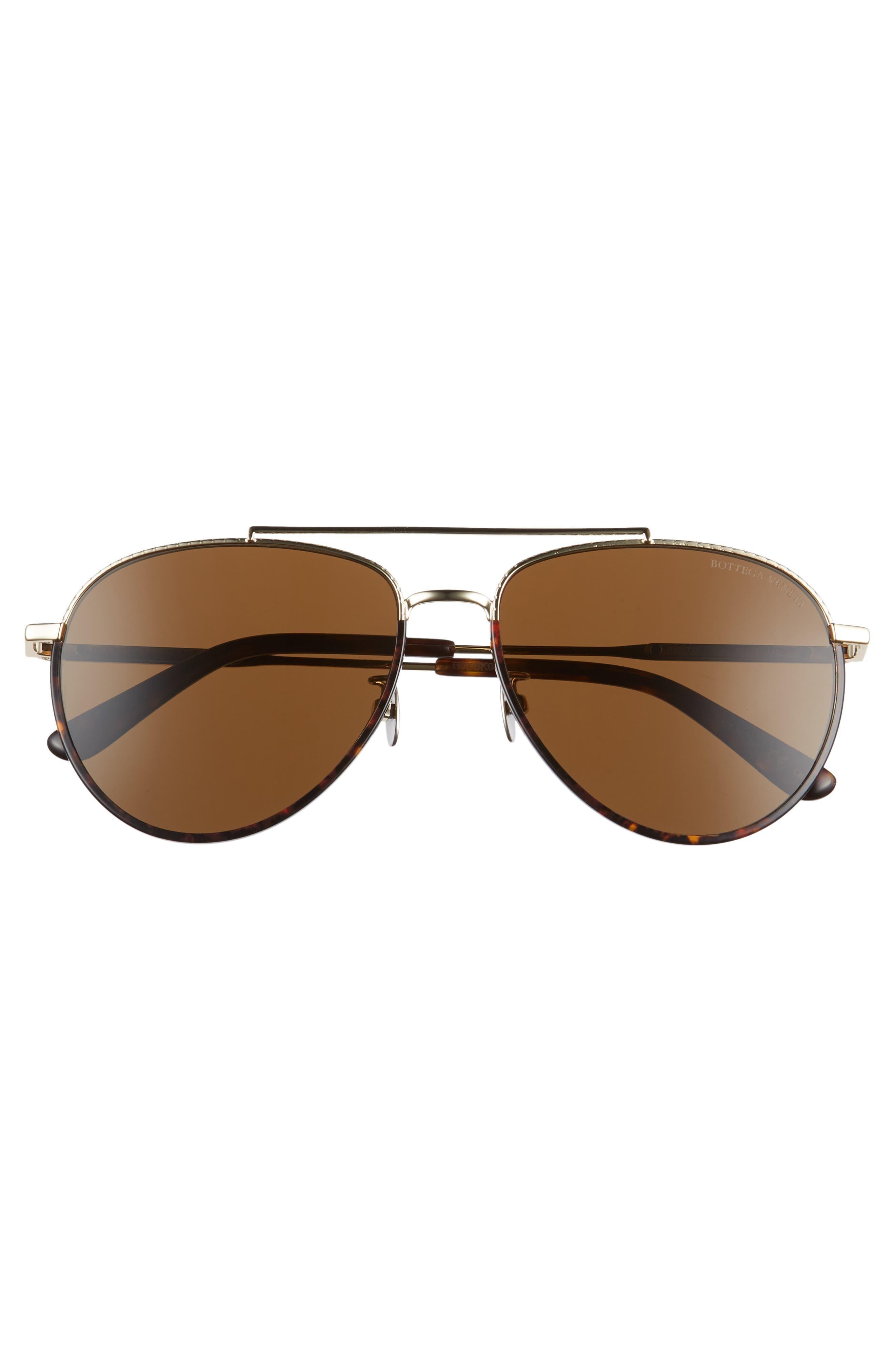 59mm Aviator Sunglasses,                             Alternate thumbnail 6, color,