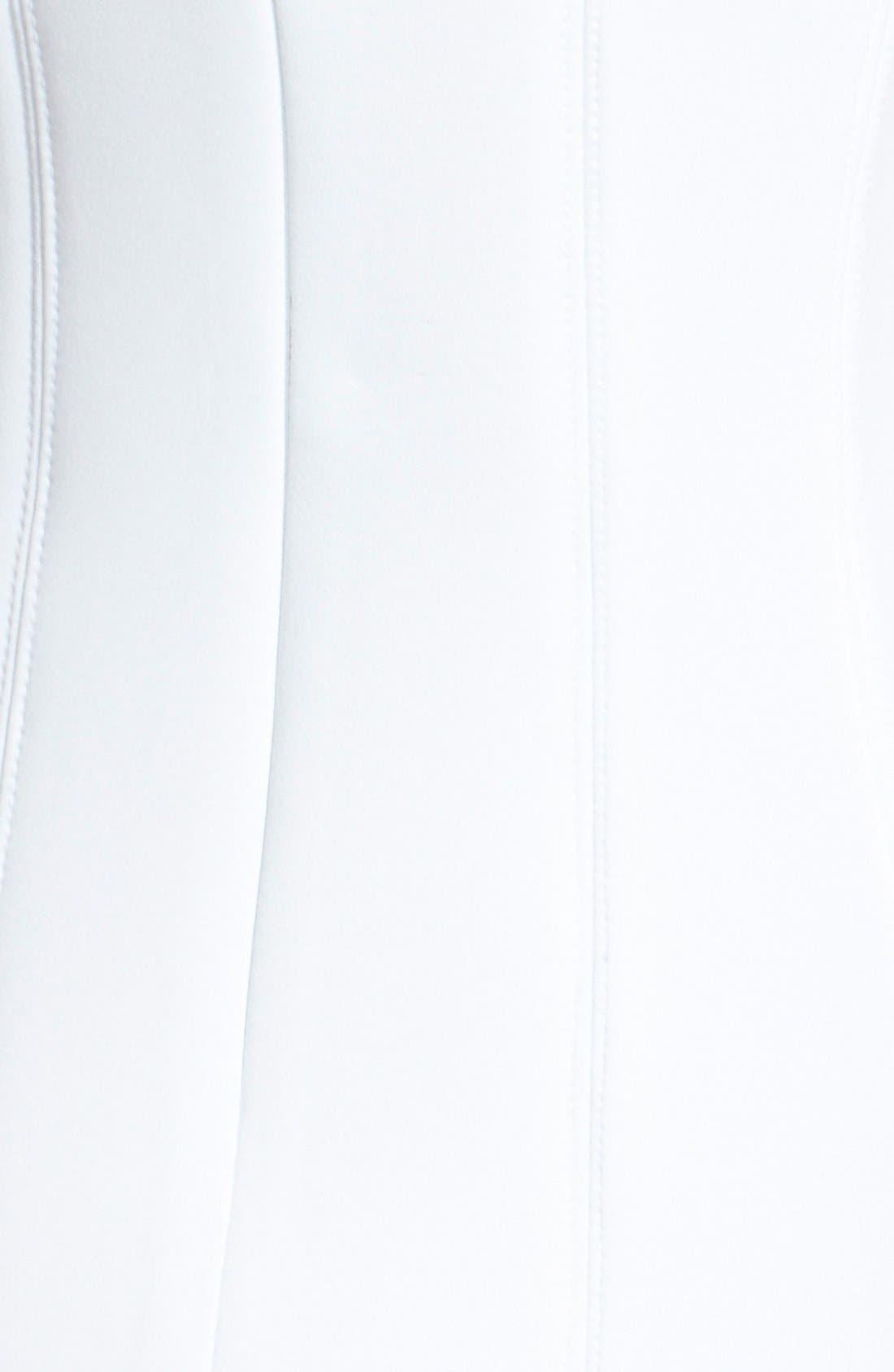 Sleeveless Scuba Fit & Flare Dress,                             Alternate thumbnail 3, color,                             100