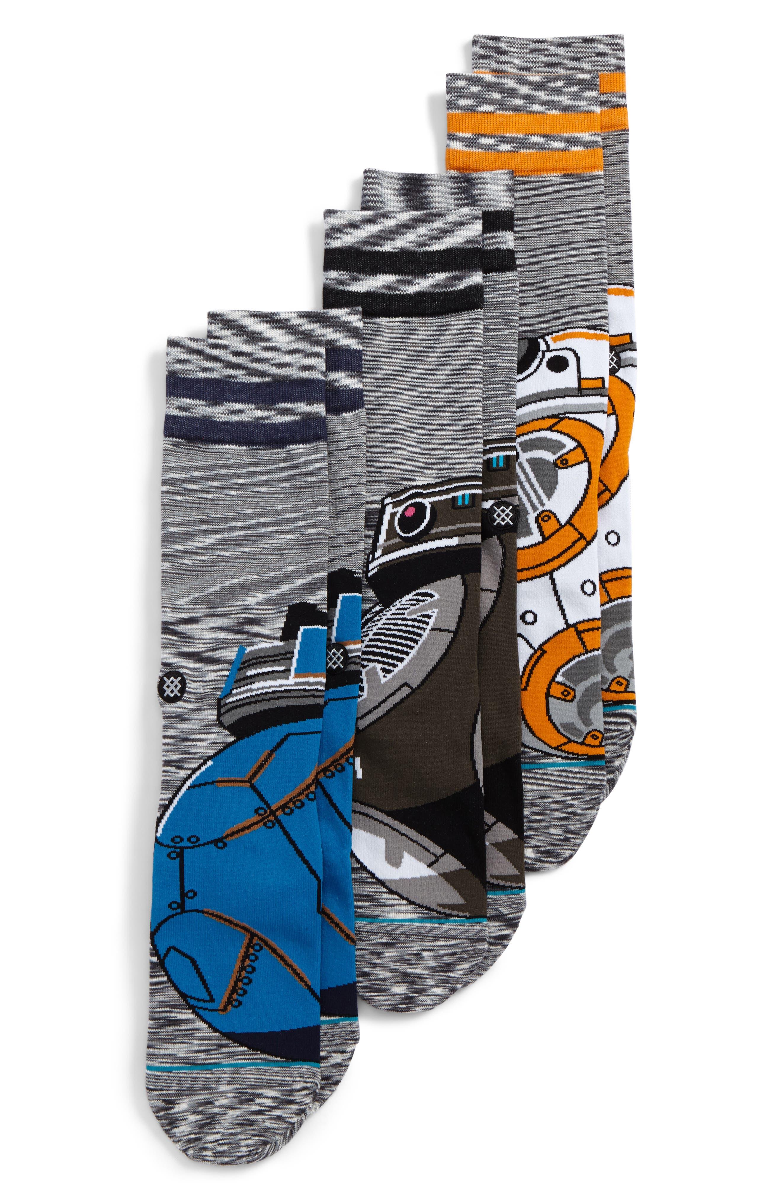 Star Wars<sup>™</sup> Droid 3-Pack Socks,                             Alternate thumbnail 2, color,                             960