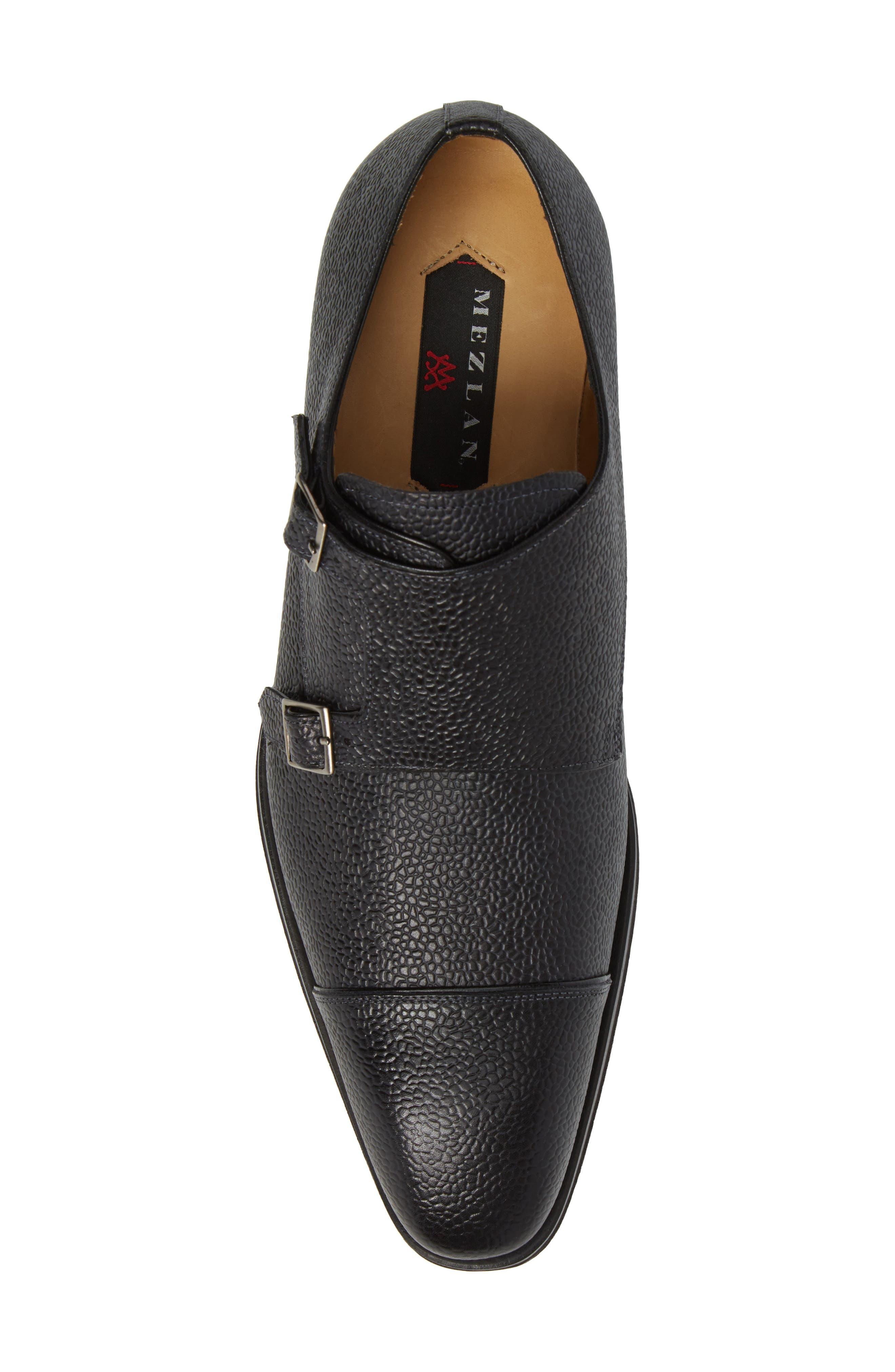 Lubrin Double Monk Strap Shoe,                             Alternate thumbnail 5, color,                             BLACK LEATHER