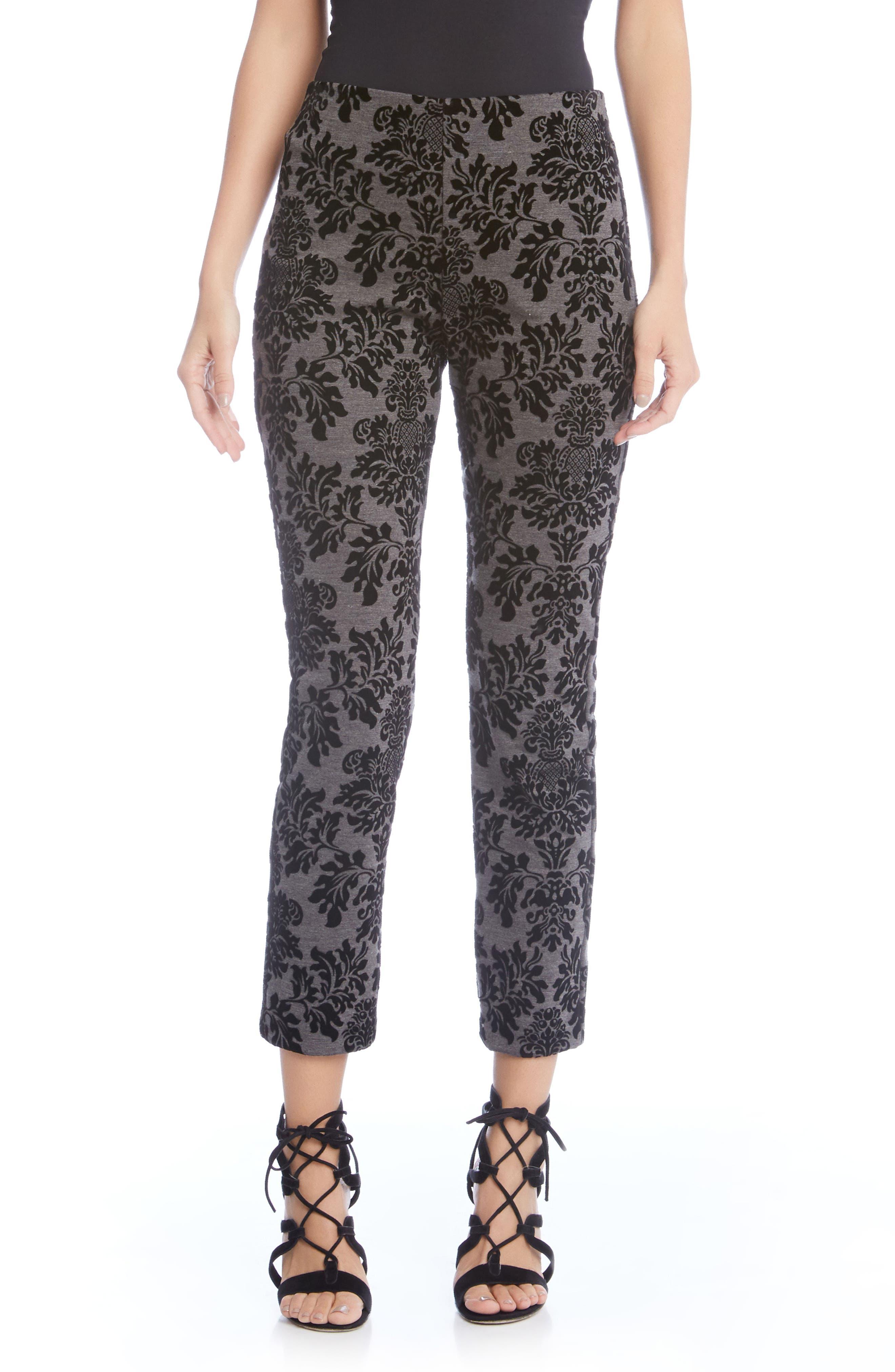 Embossed Velvet Piper Pants,                         Main,                         color, 053