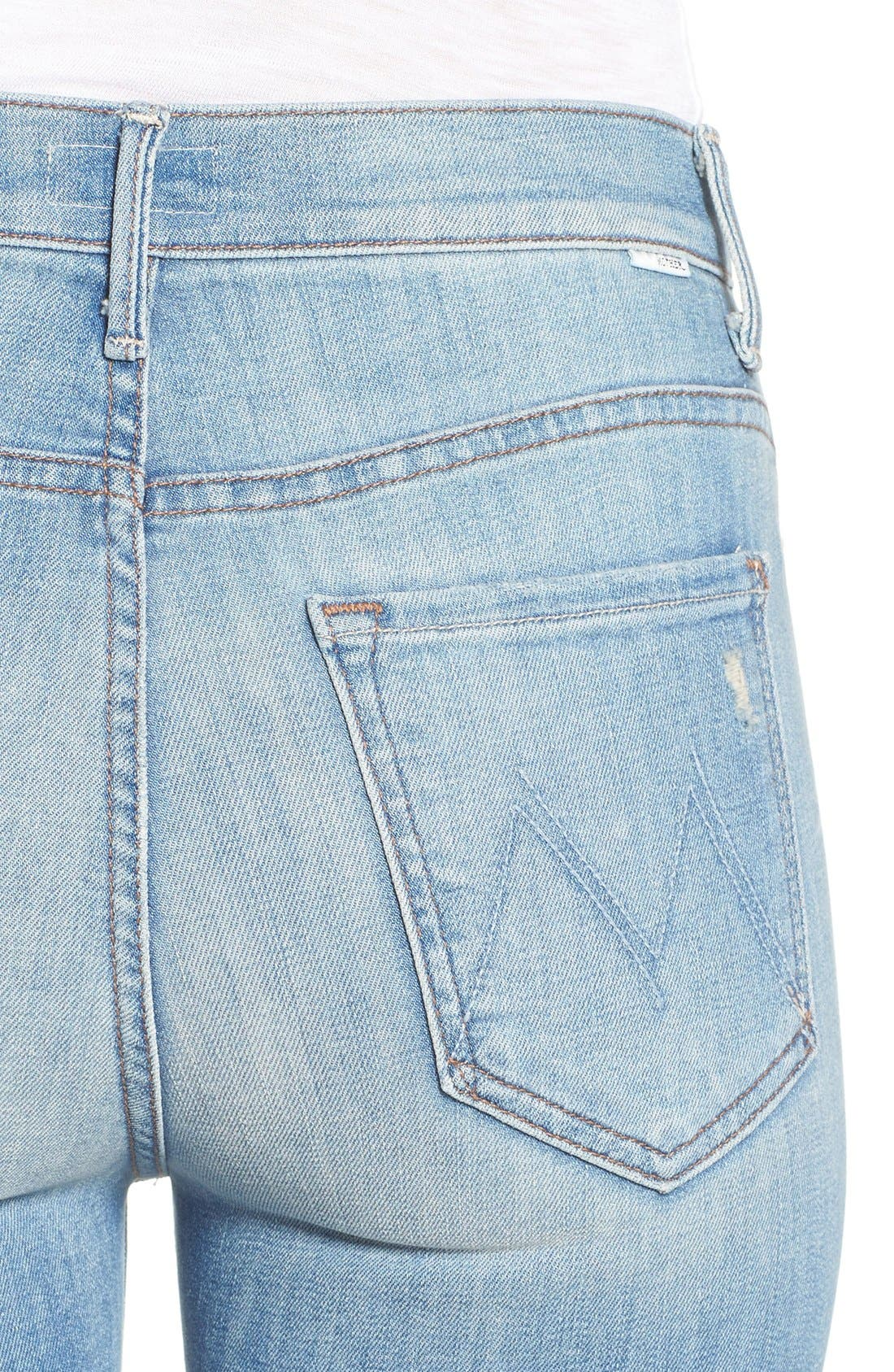 'The Insider' Crop Step Fray Jeans,                             Alternate thumbnail 4, color,                             SHAKE WELL