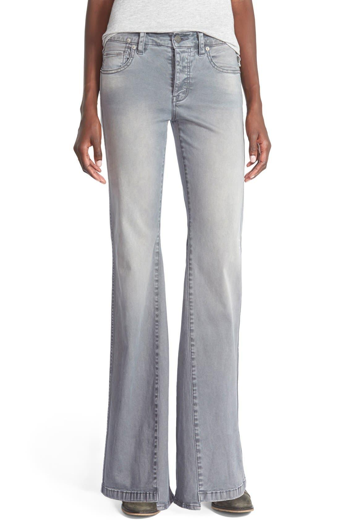 'Gold Coast' Flare Jeans,                             Main thumbnail 1, color,                             020
