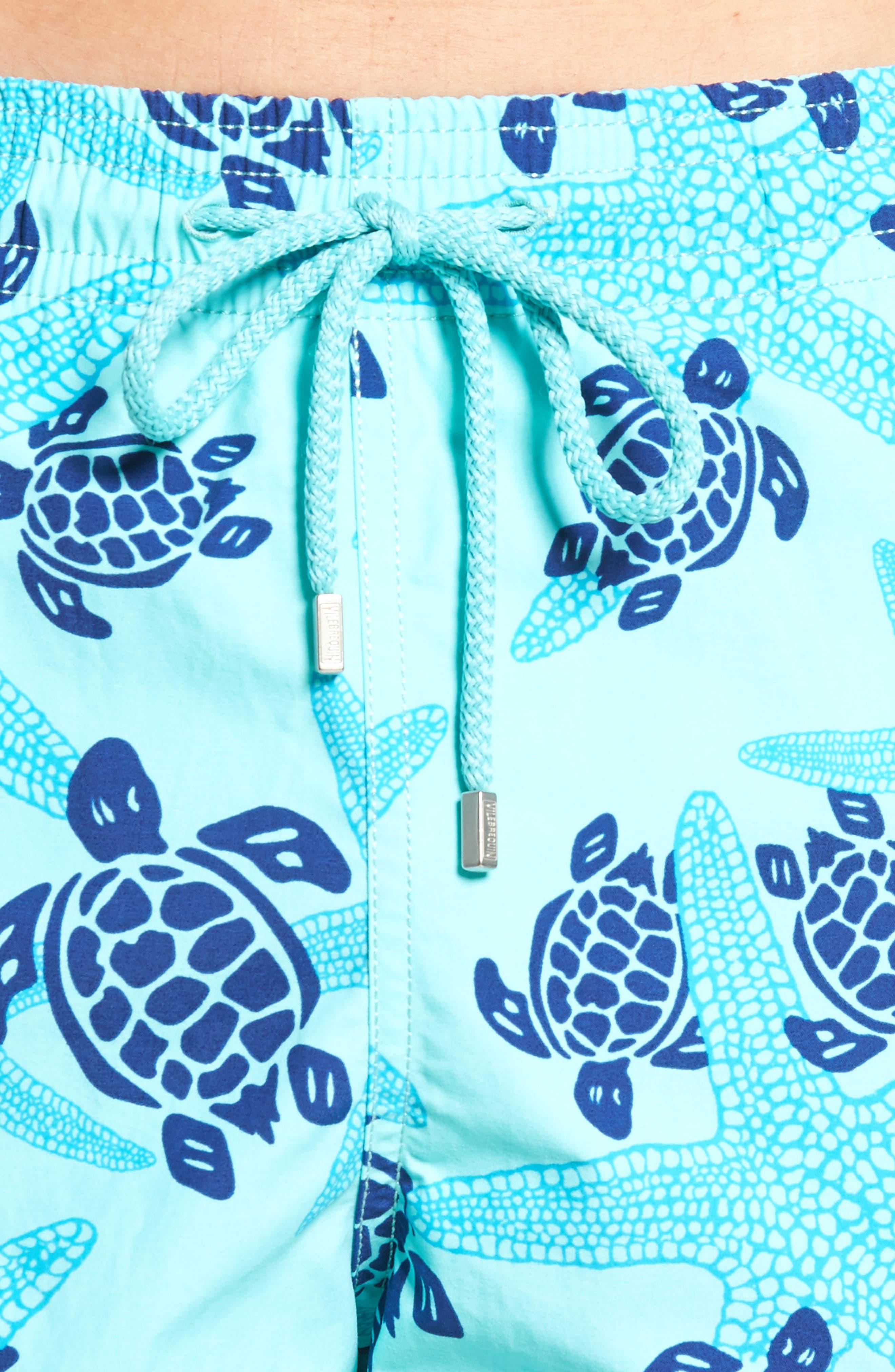 Starlettes & Turtles Swim Trunks,                             Alternate thumbnail 4, color,                             LAGOON