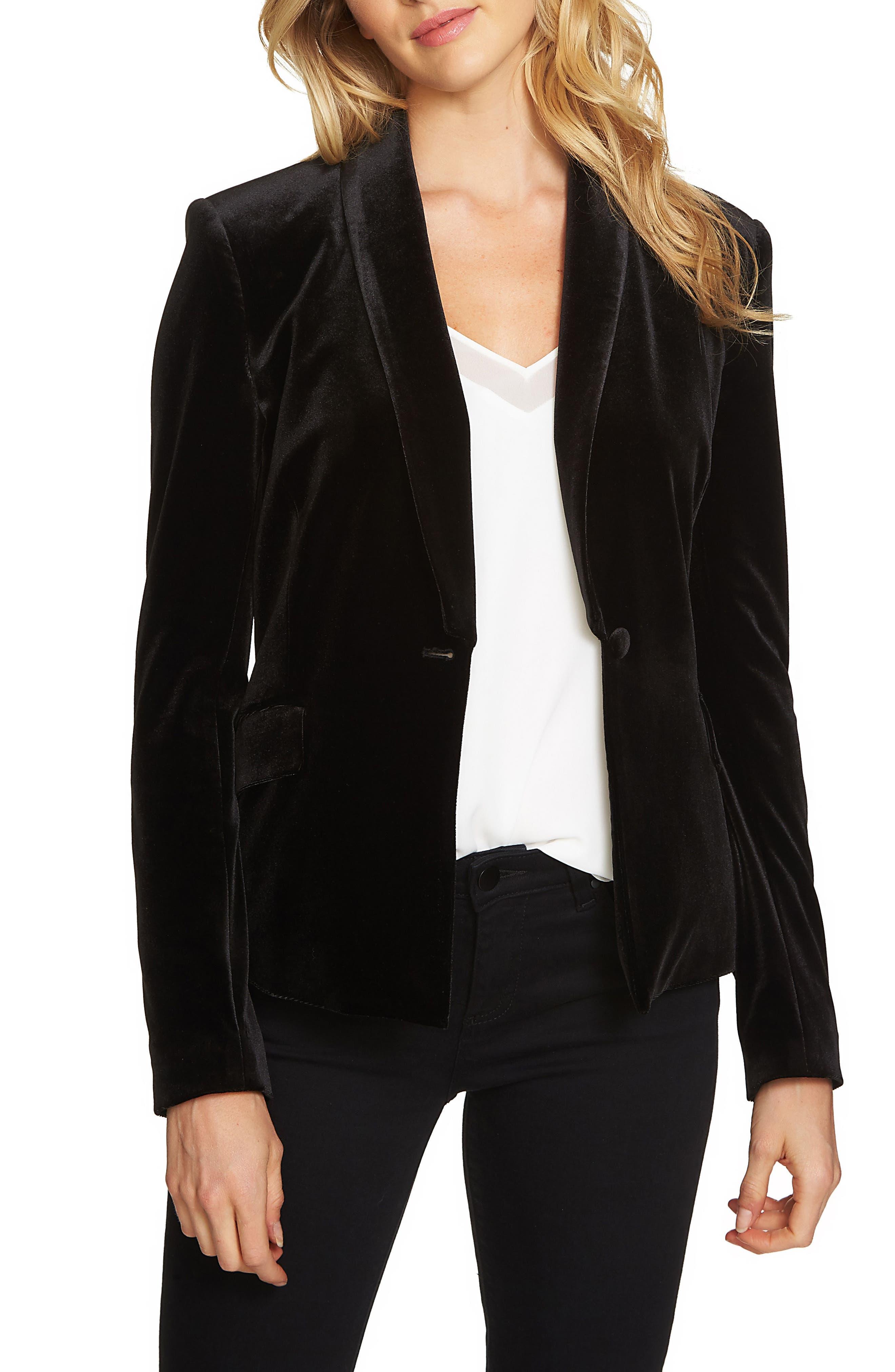 Velvet Tuxedo Blazer,                         Main,                         color, 010