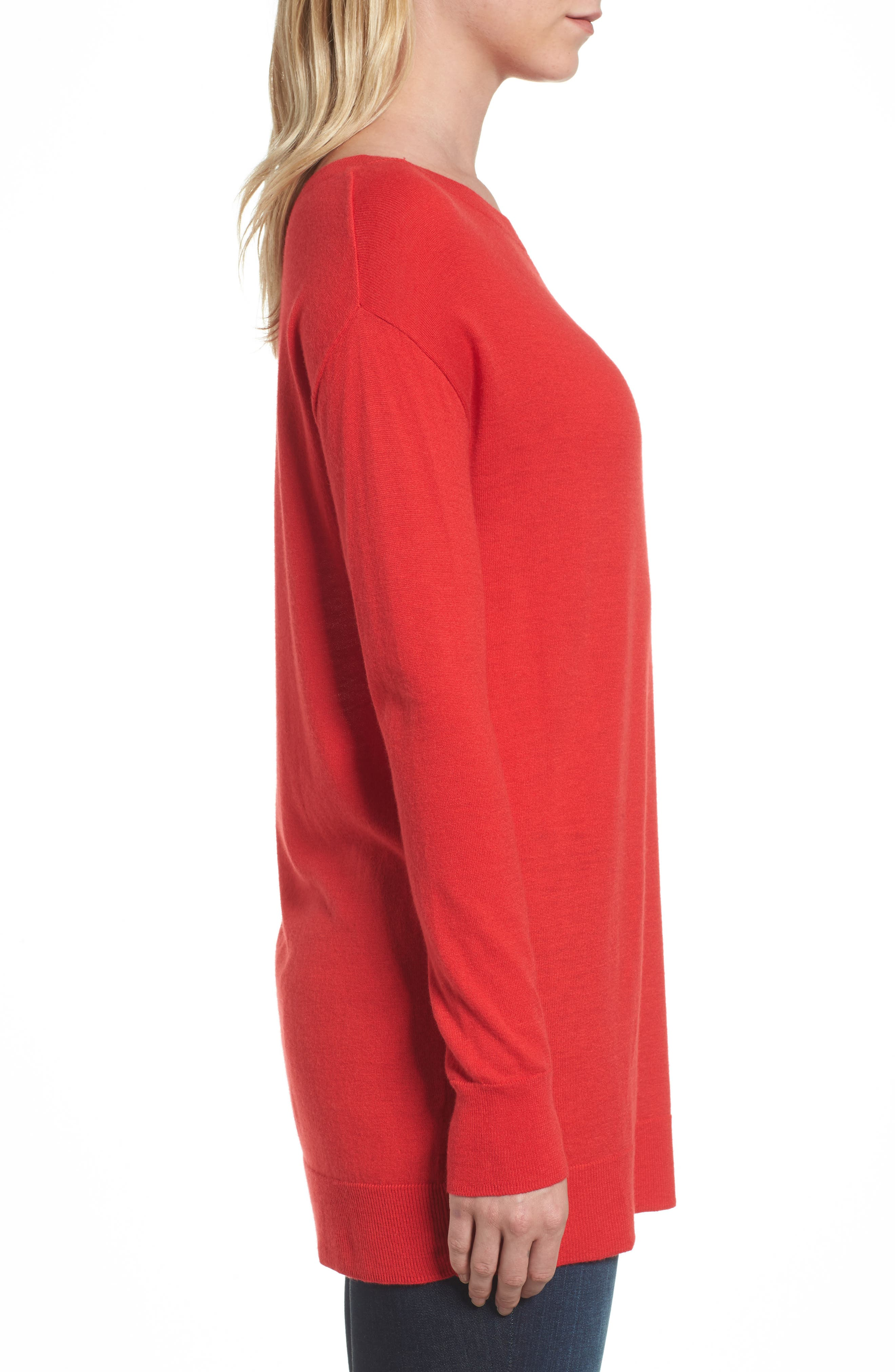 Boatneck Tunic Sweater,                             Alternate thumbnail 19, color,