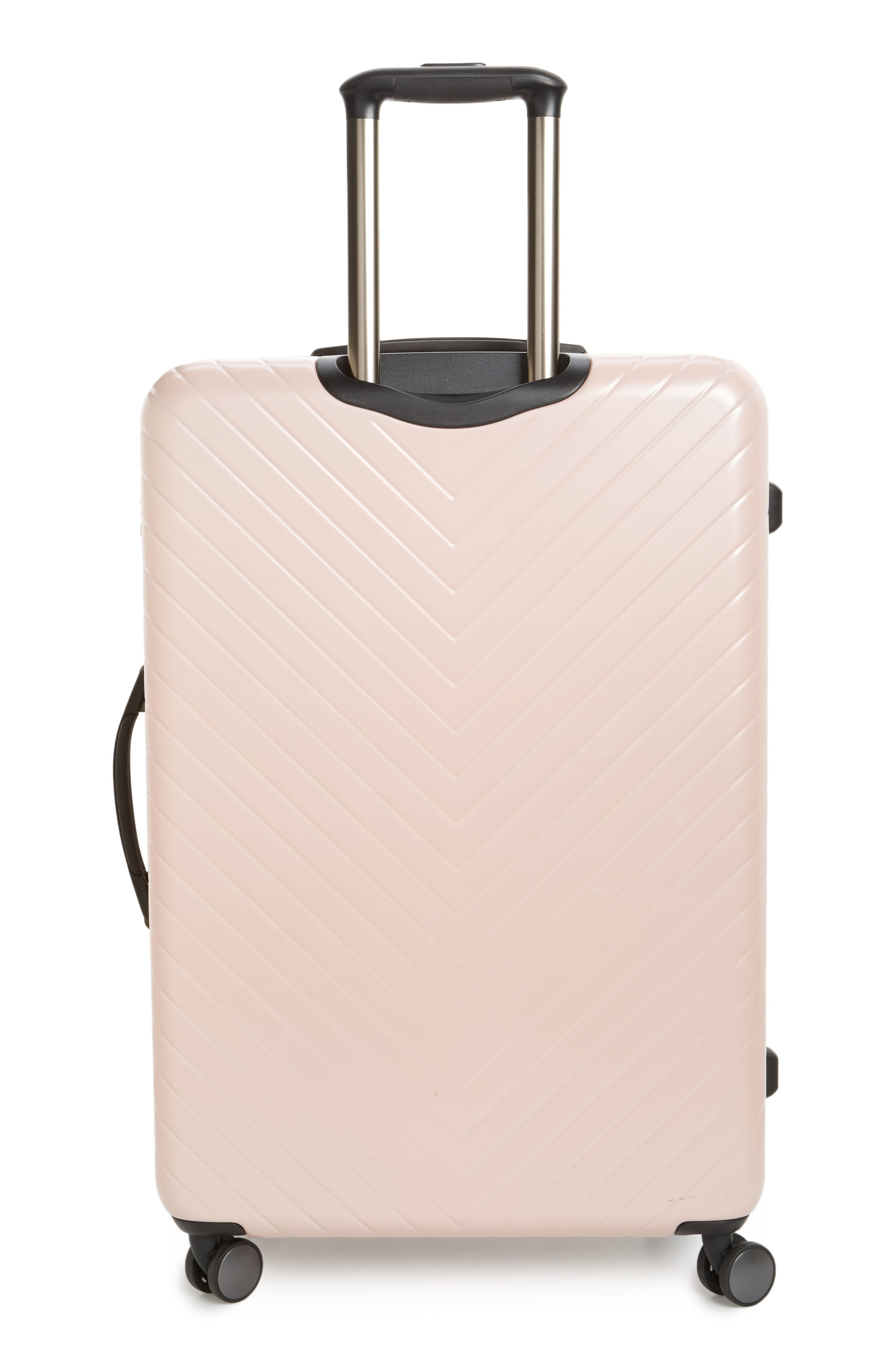 Chevron 29-Inch Spinner Suitcase,                             Alternate thumbnail 4, color,                             PINK HERO