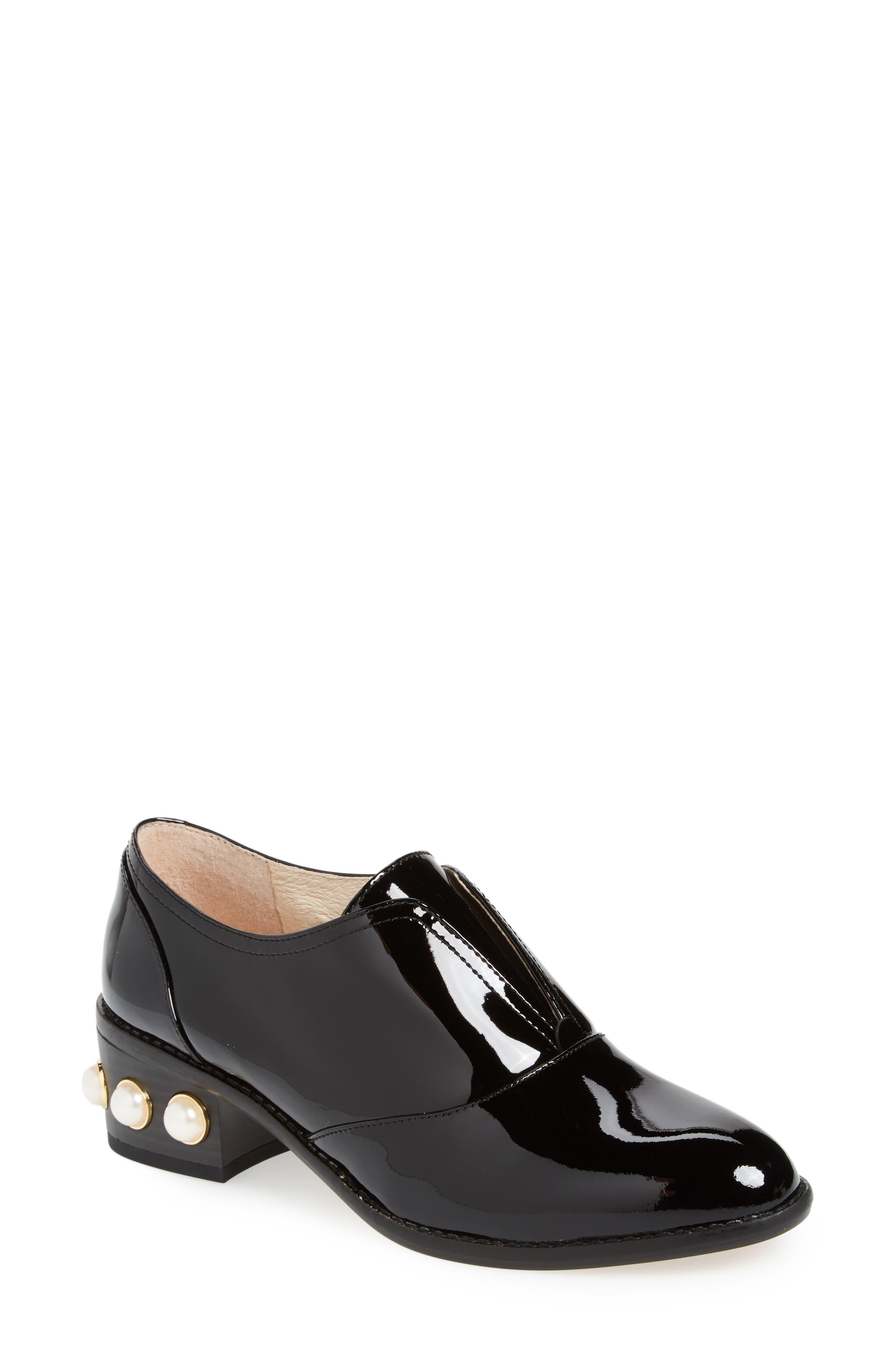 Franley Embellished Heel Oxford,                         Main,                         color, 001