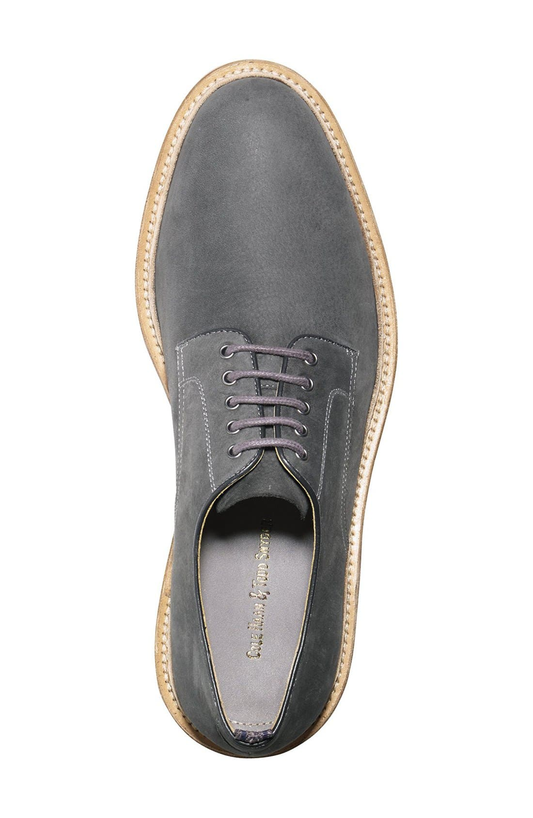 'Willet' Nubuck Plain Toe Derby,                             Alternate thumbnail 5, color,                             025