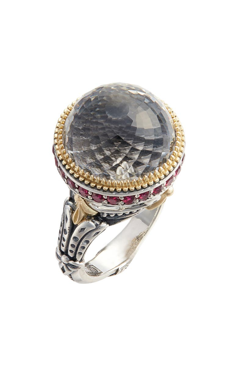 Konstantino PYTHIA LARGE CRYSTAL RING