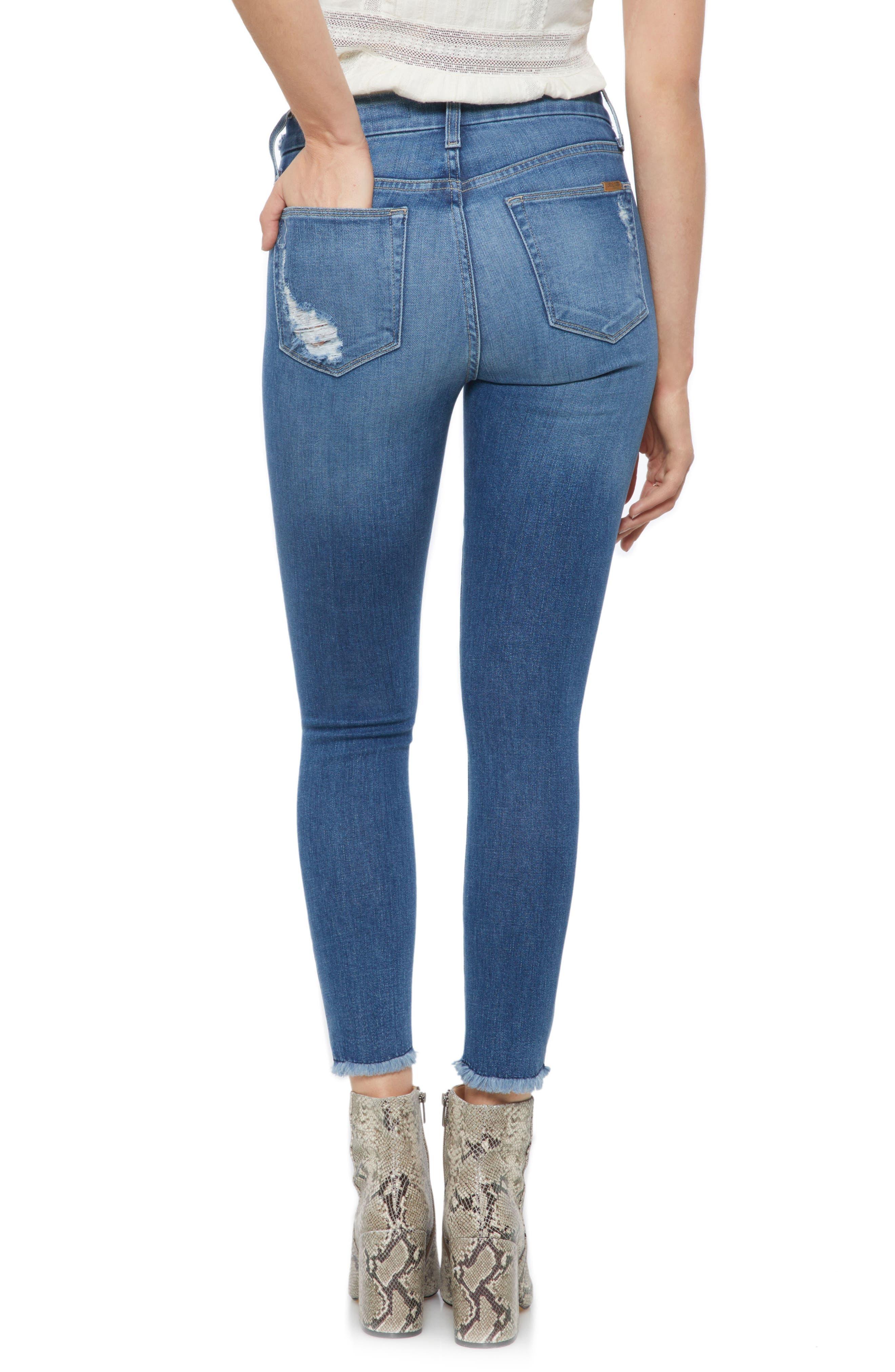 Hi Rise Honey Curvy Skinny Crop Jeans,                             Alternate thumbnail 2, color,                             QUINLEY