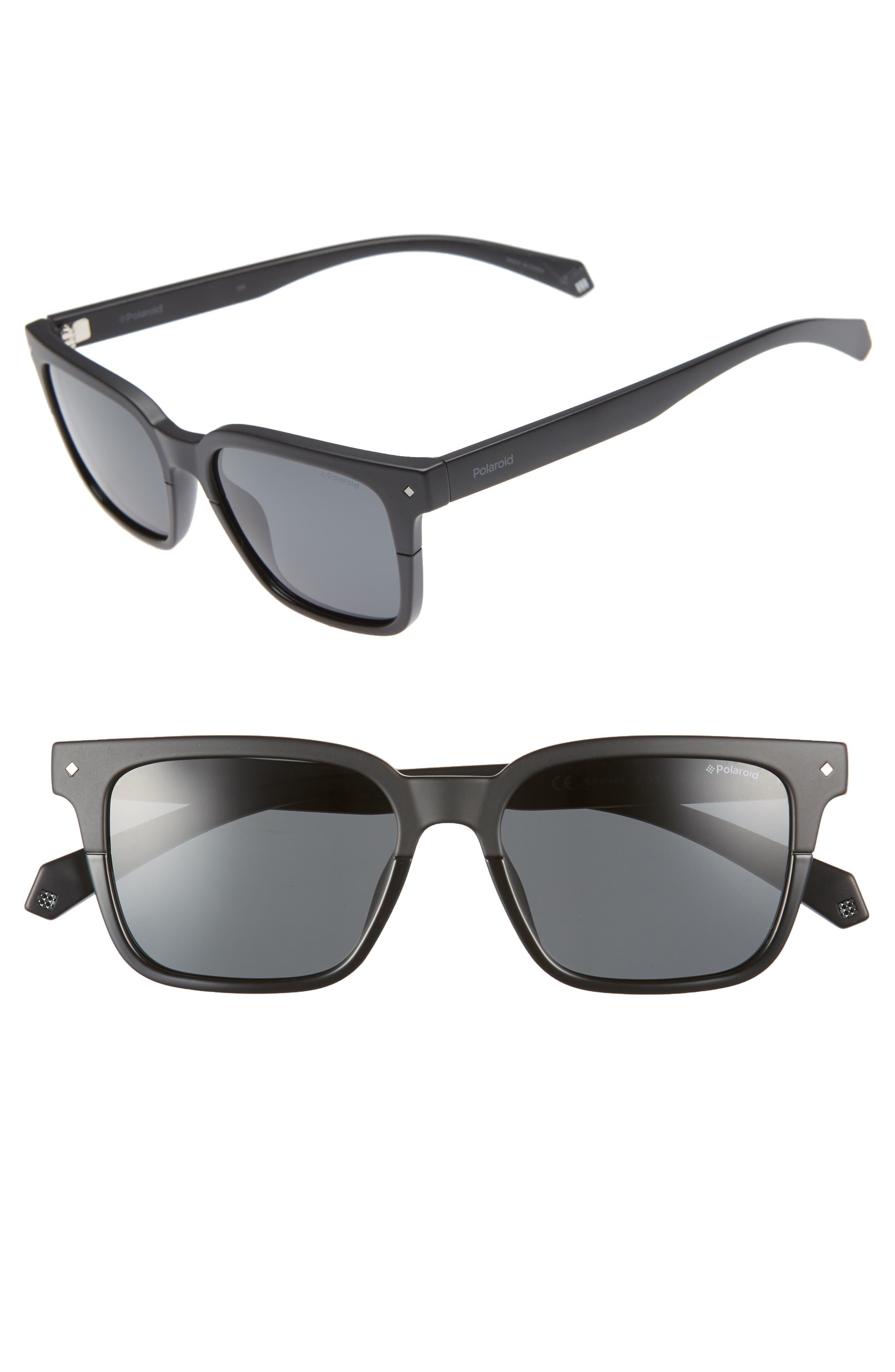 Polaroid 52Mm Polarized Sunglasses - Black