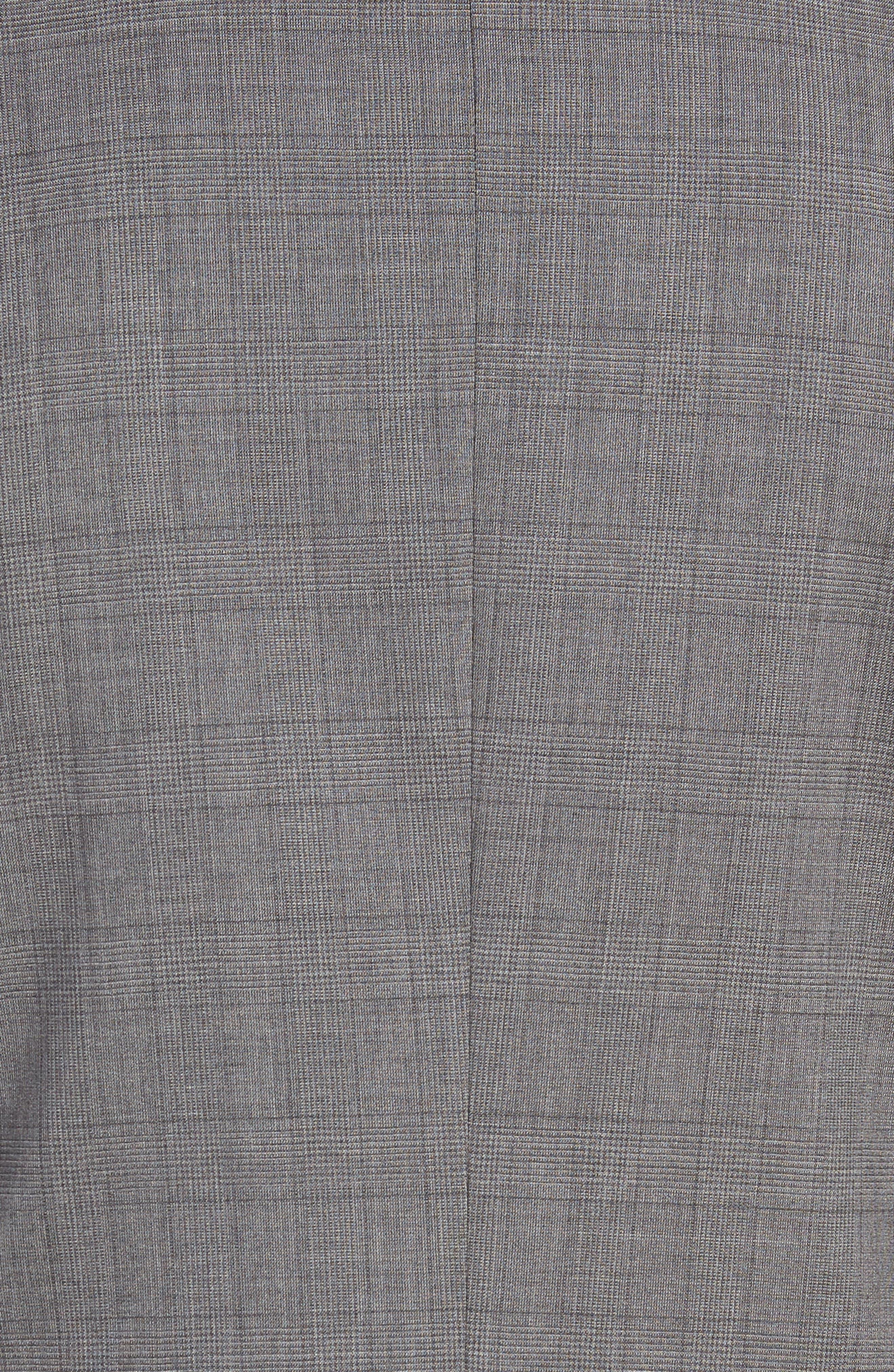 Huge/Genius Trim Fit Plaid Wool Suit,                             Alternate thumbnail 7, color,                             GREY
