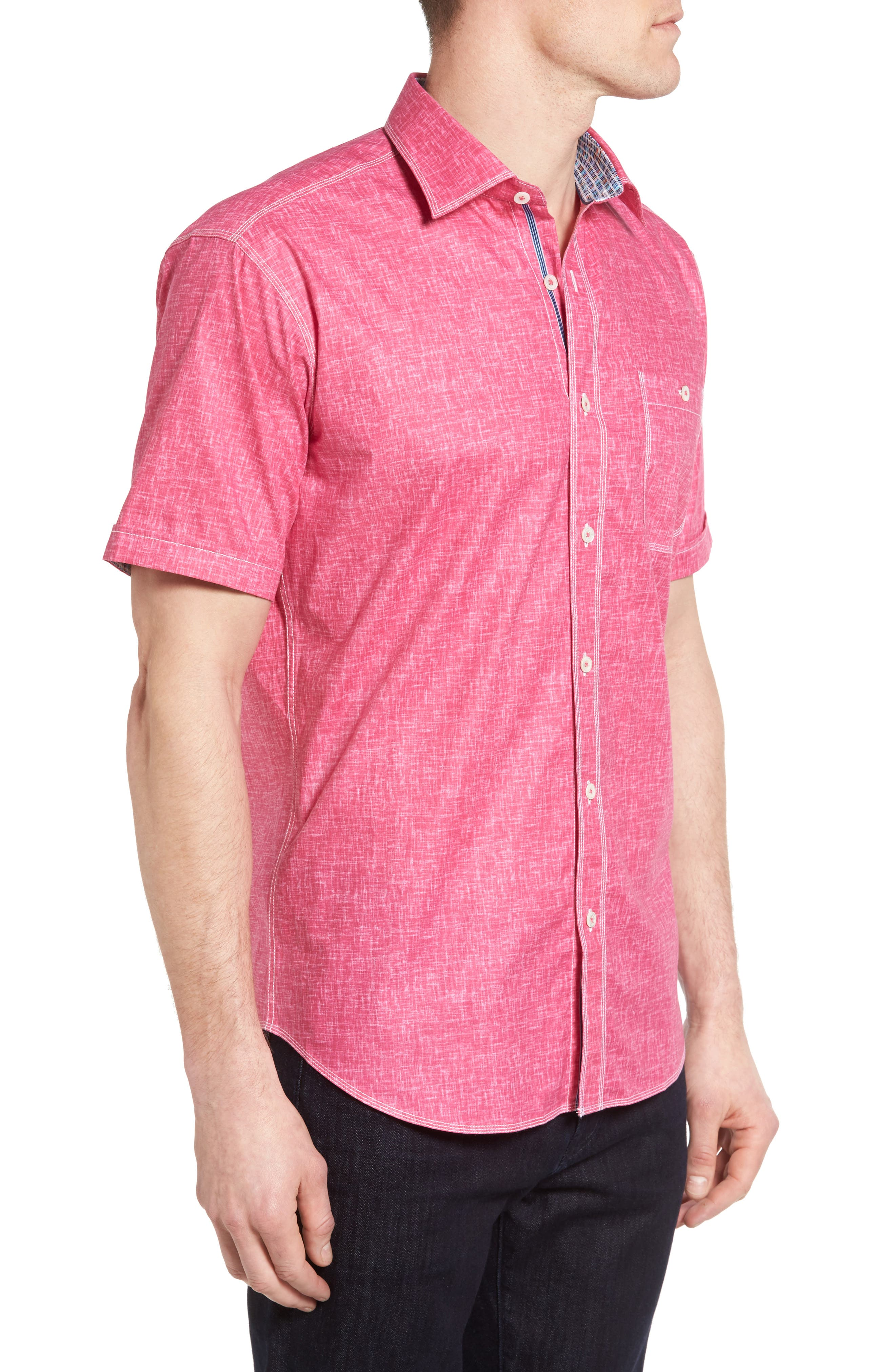 Shaped Fit Solid Sport Shirt,                             Alternate thumbnail 15, color,