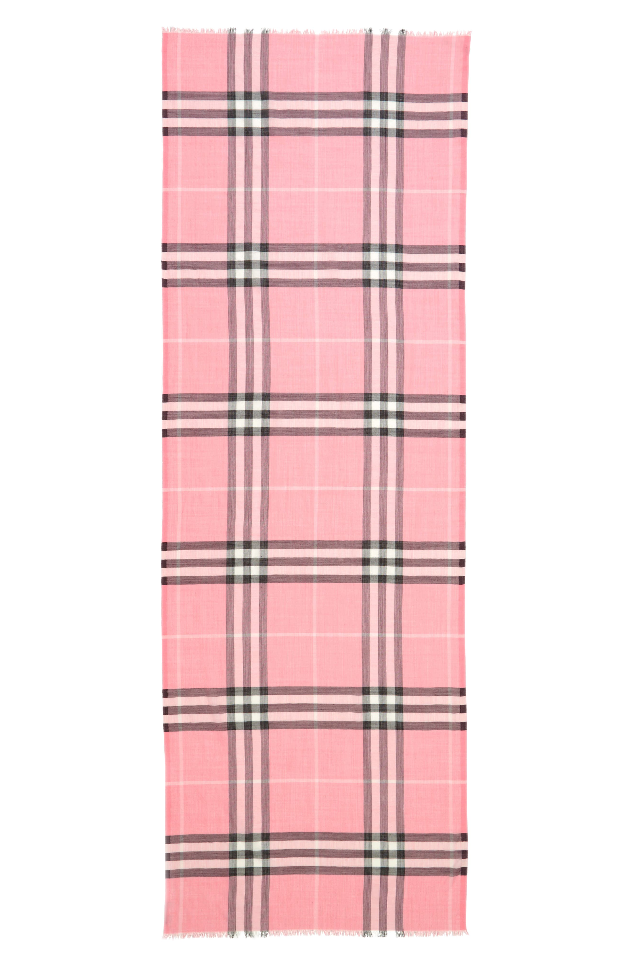 Giant Check Print Wool & Silk Scarf,                             Alternate thumbnail 142, color,