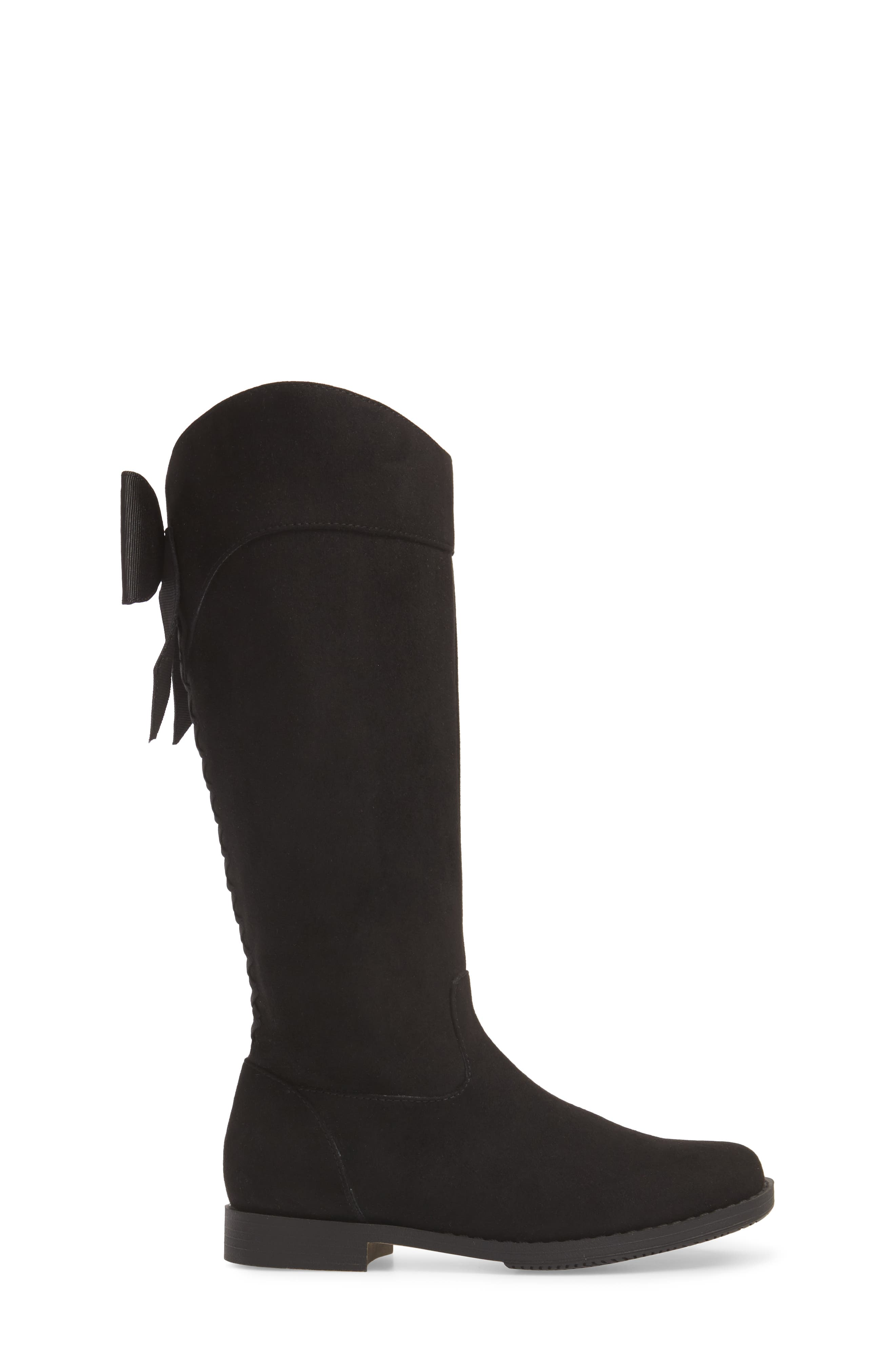 Kenneth Cole Collection Kennedy Bow Boot,                             Alternate thumbnail 3, color,                             BLACK