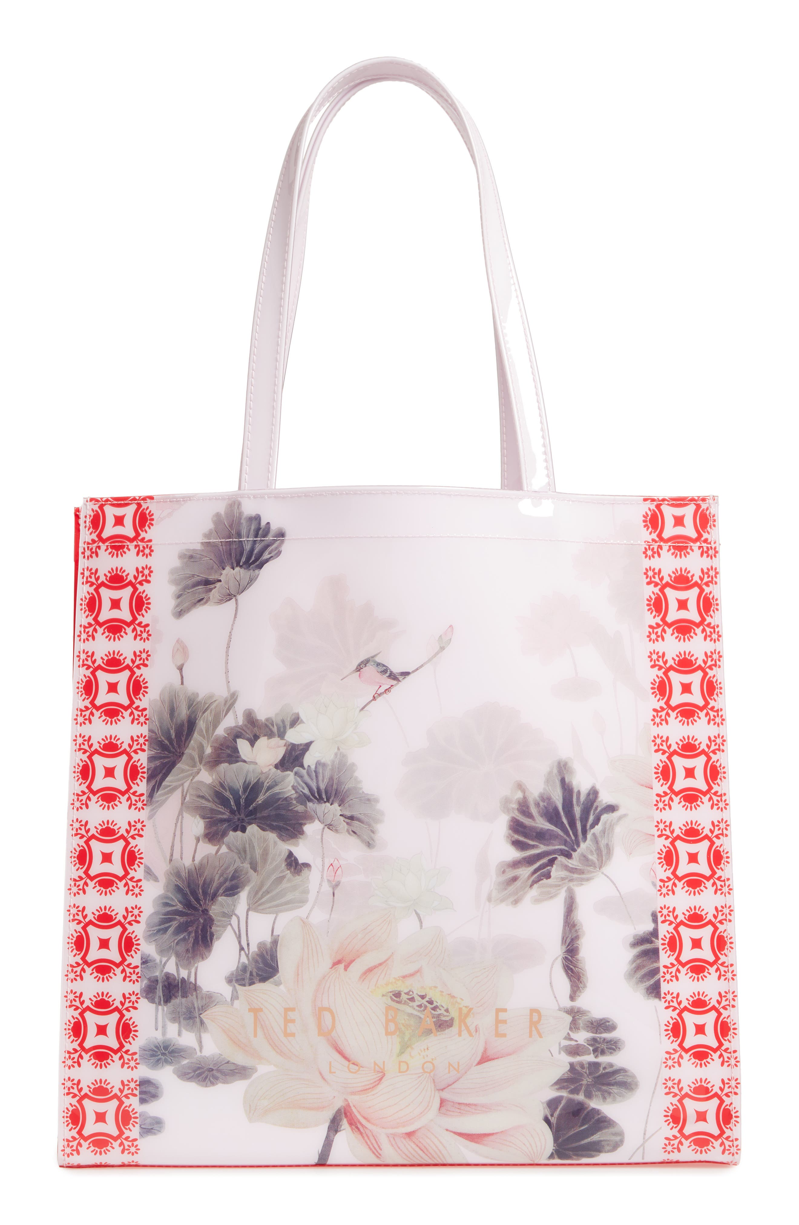 Lake of Dreams Large Icon Tote,                             Alternate thumbnail 3, color,                             DUSKY PINK