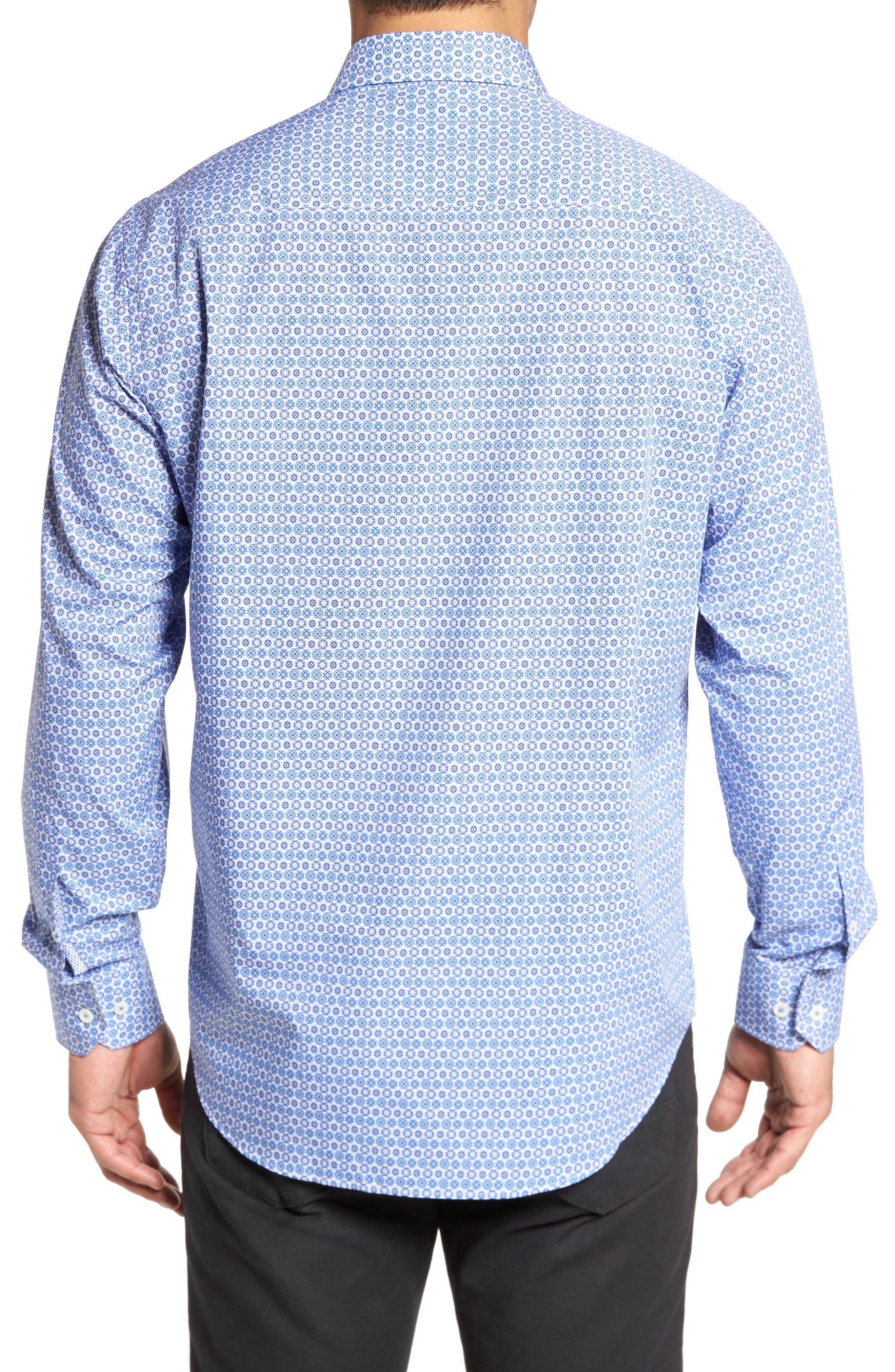Classic Fit Medallion Print Sport Shirt,                             Alternate thumbnail 2, color,                             422