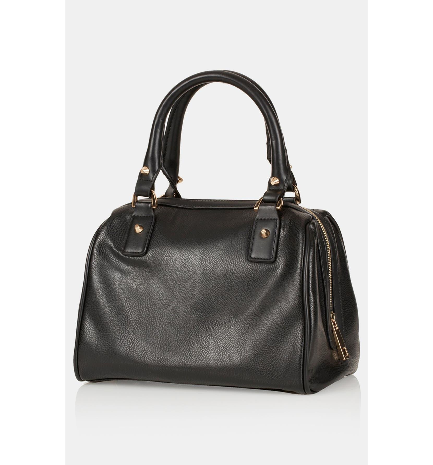 Topshop  Medium  Faux Leather Bowling Bag  1fe9cb2ca9edd
