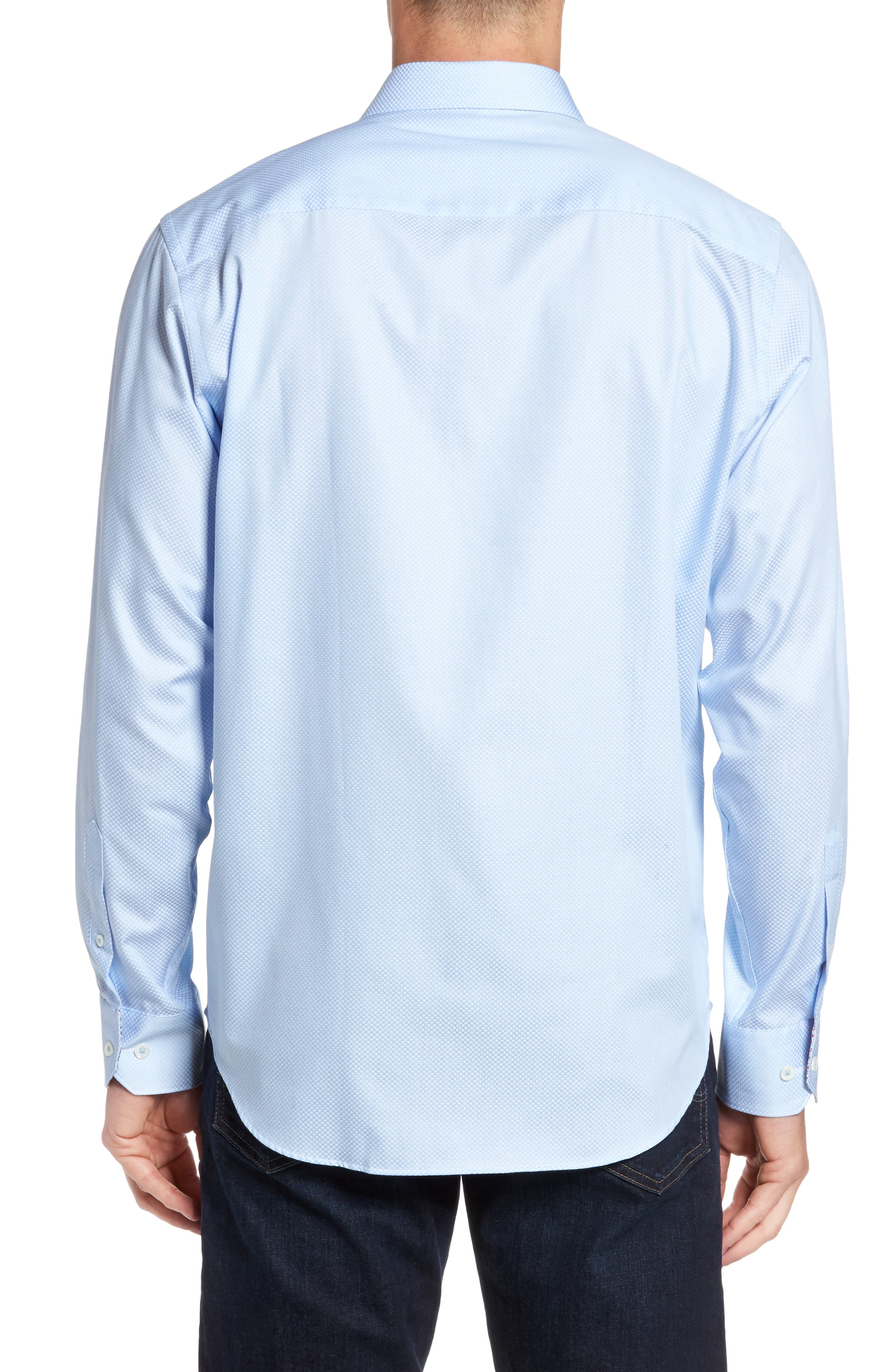 Classic Fit Diamond Print Sport Shirt,                             Alternate thumbnail 2, color,                             459