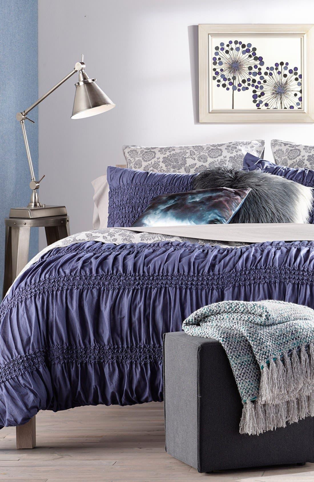 Ombré Faux Fur Flokati Accent Pillow,                             Alternate thumbnail 11, color,