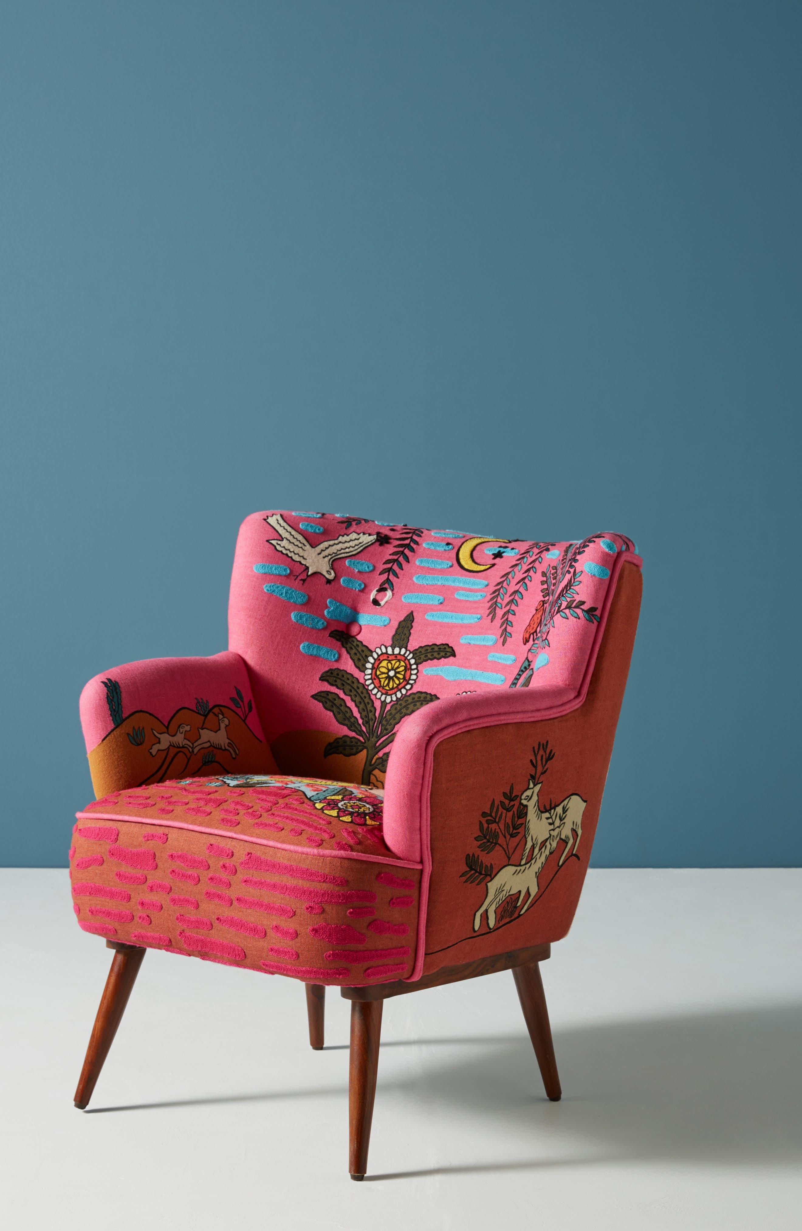 Wayne Occasional Chair,                             Main thumbnail 1, color,                             PINK
