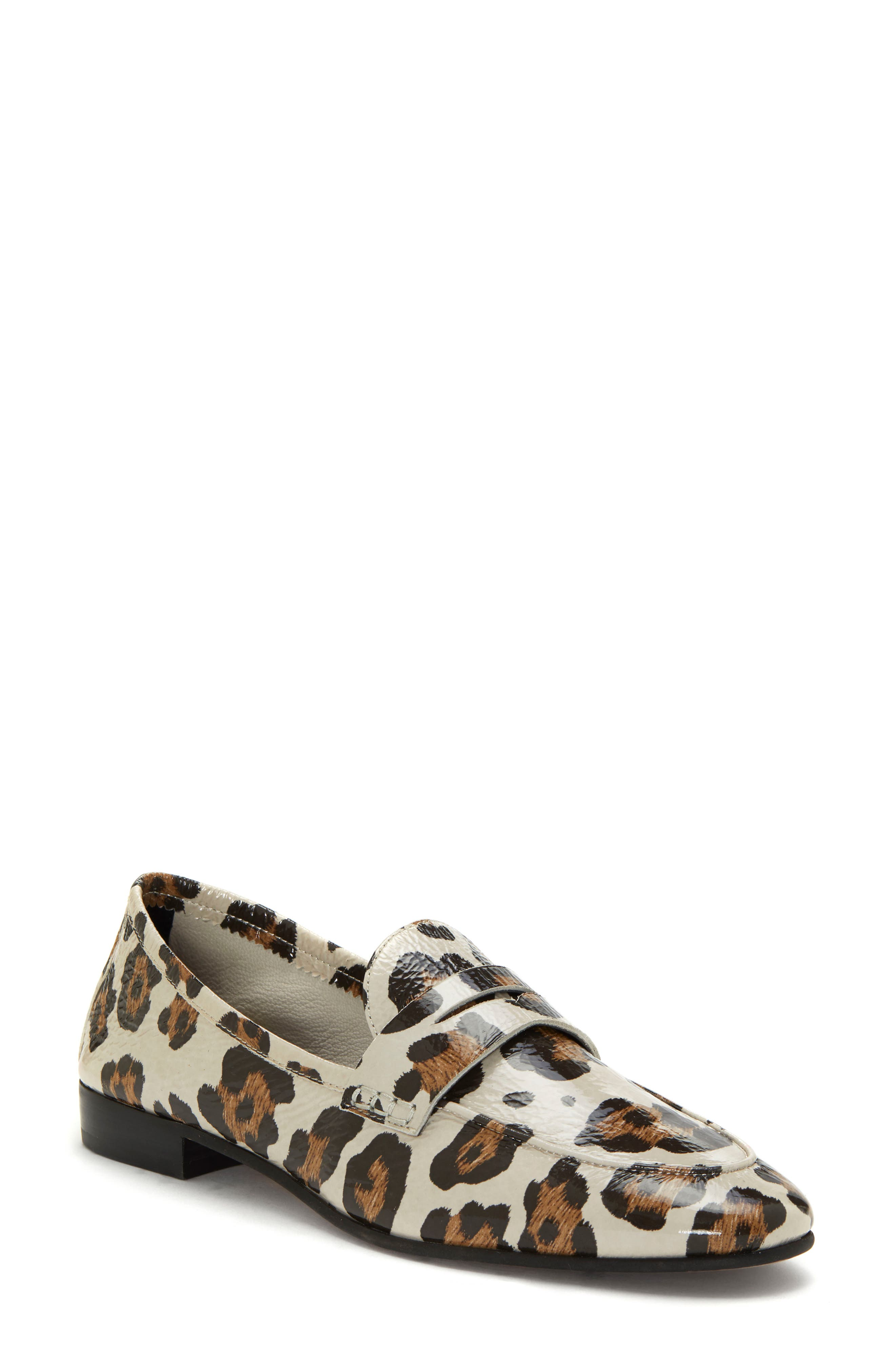 Women'S Macinda Metallic Leather Loafers in Natural Leopard Haircalf