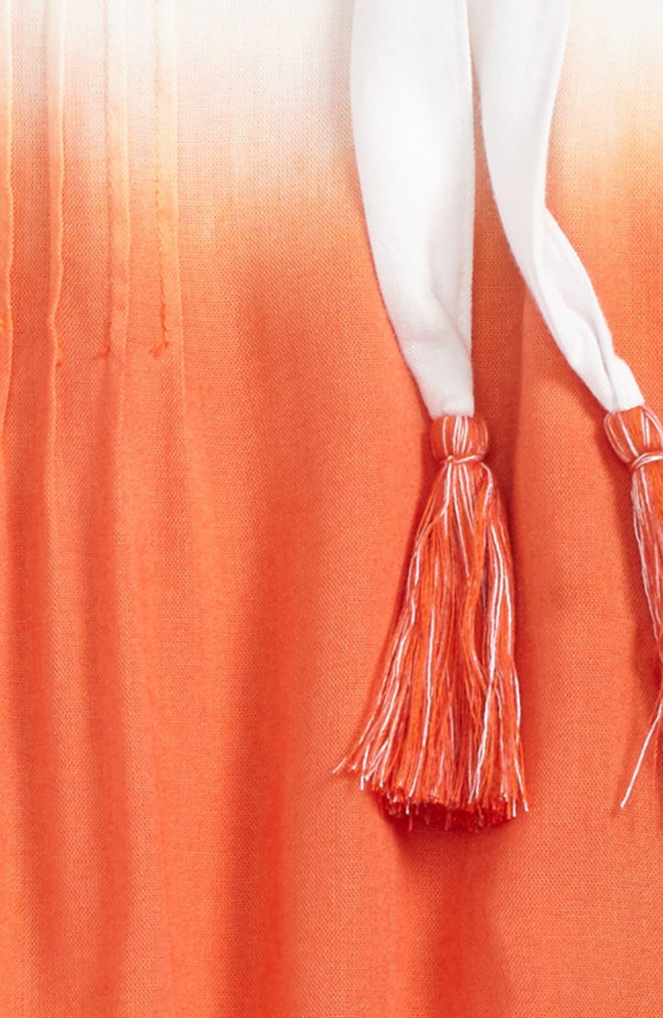 Camellia Dip Dye Cover-Up Dress,                             Alternate thumbnail 2, color,
