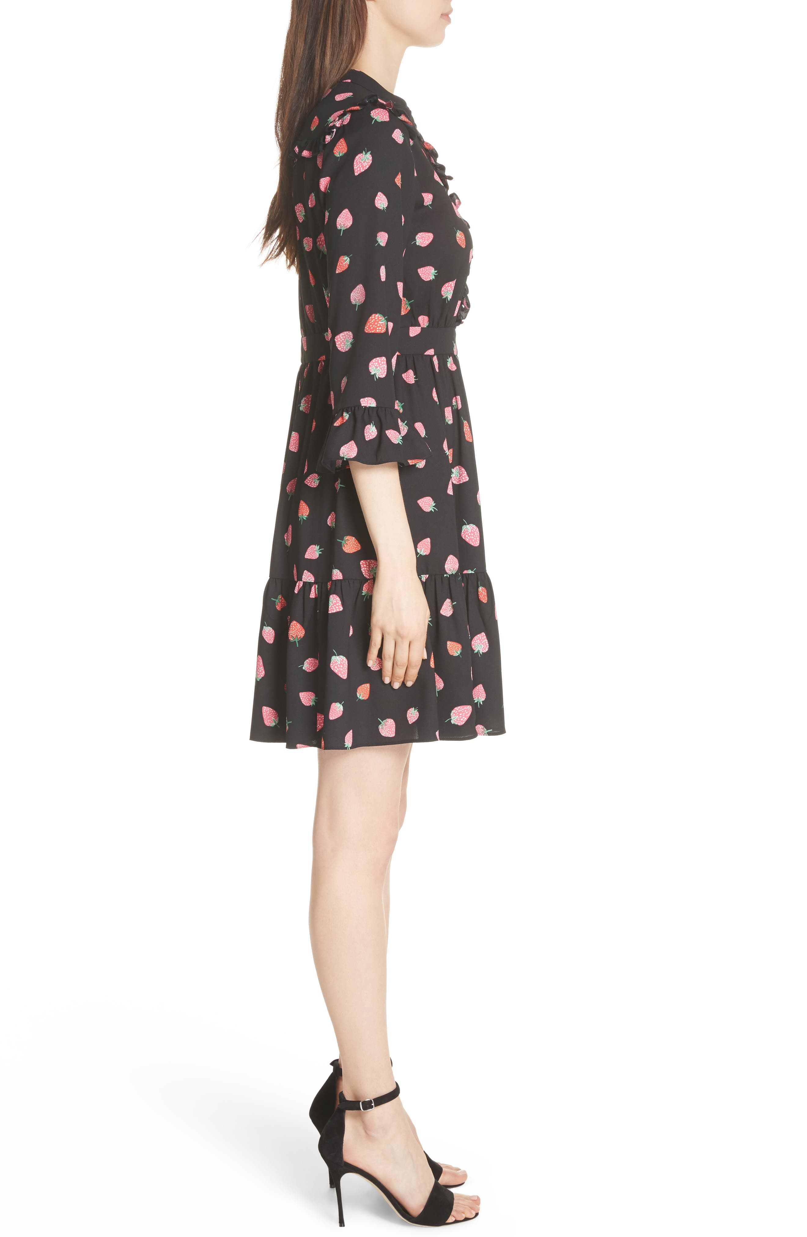 tossed berry shirtdress,                             Alternate thumbnail 3, color,                             001