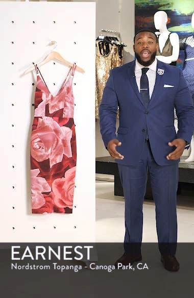 Floral Print Scuba Crepe Dress, sales video thumbnail