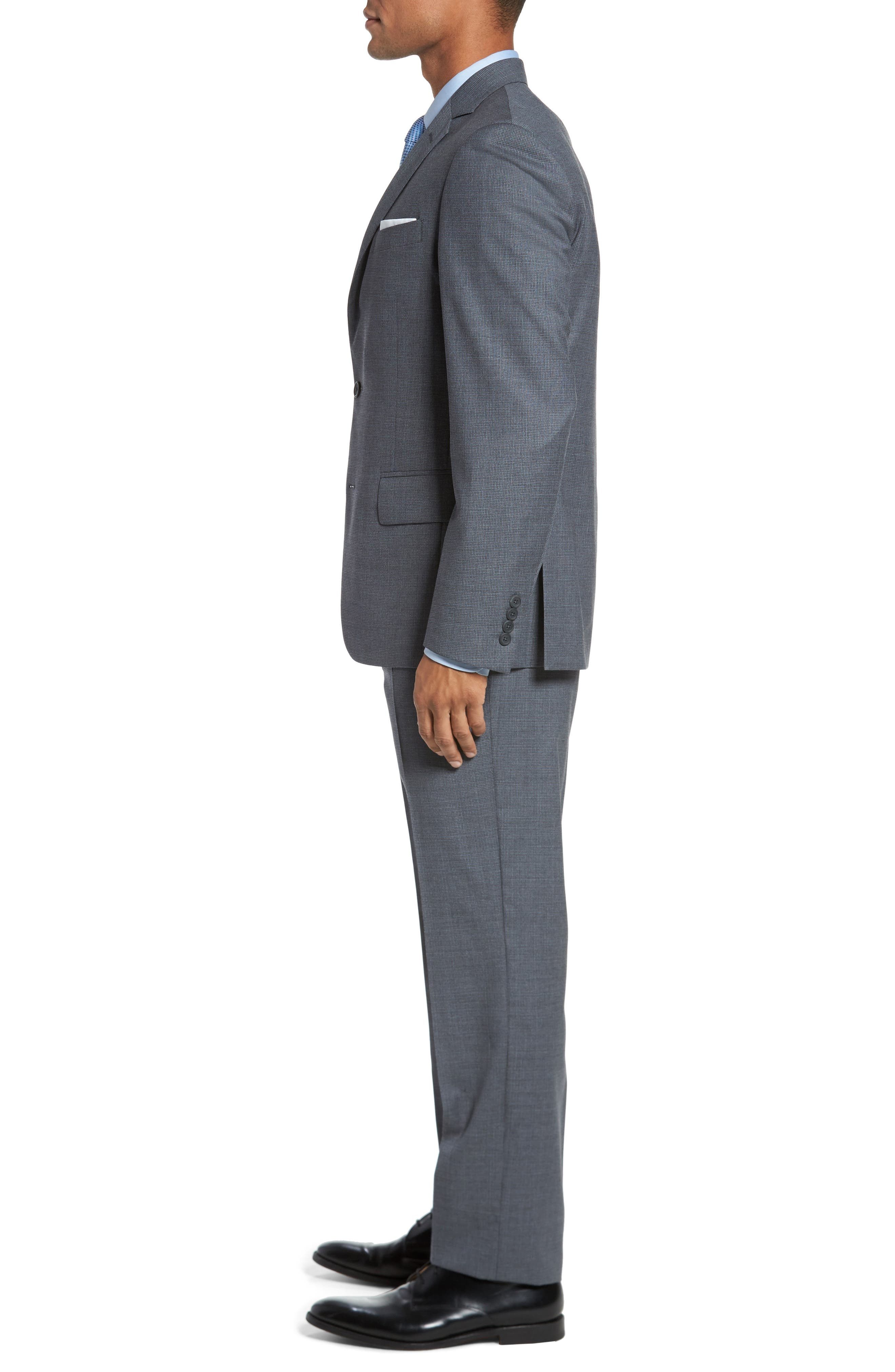 Classic Fit Check Wool Suit,                             Alternate thumbnail 8, color,