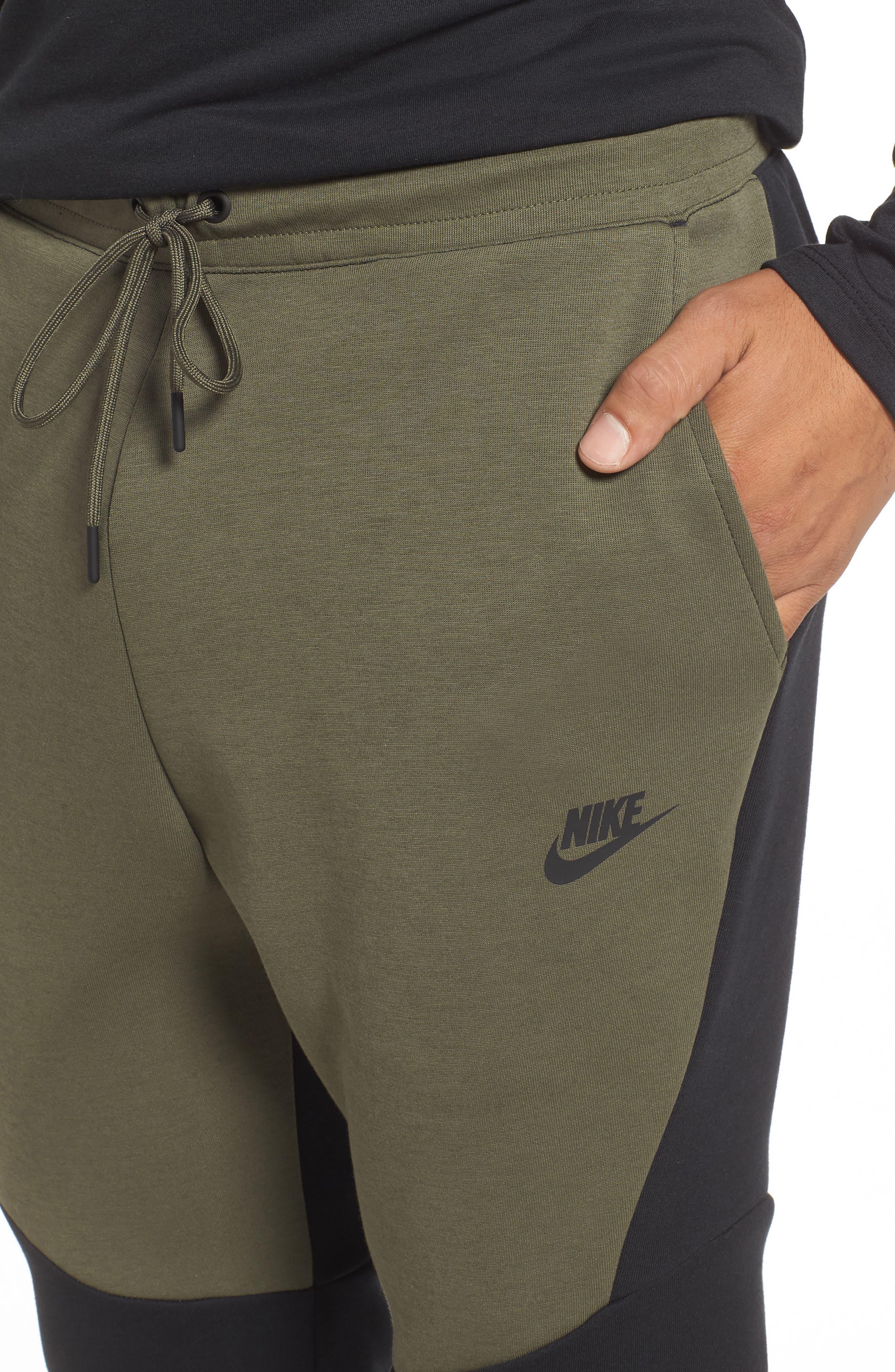 Tech Fleece Jogger Pants,                             Alternate thumbnail 4, color,                             BLACK/ TWILIGHT MARSH/ BLACK
